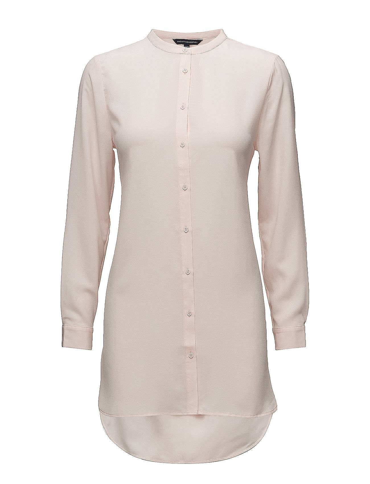 French Connection Classic Crepe Light Long Sleeve Collarless Shrt