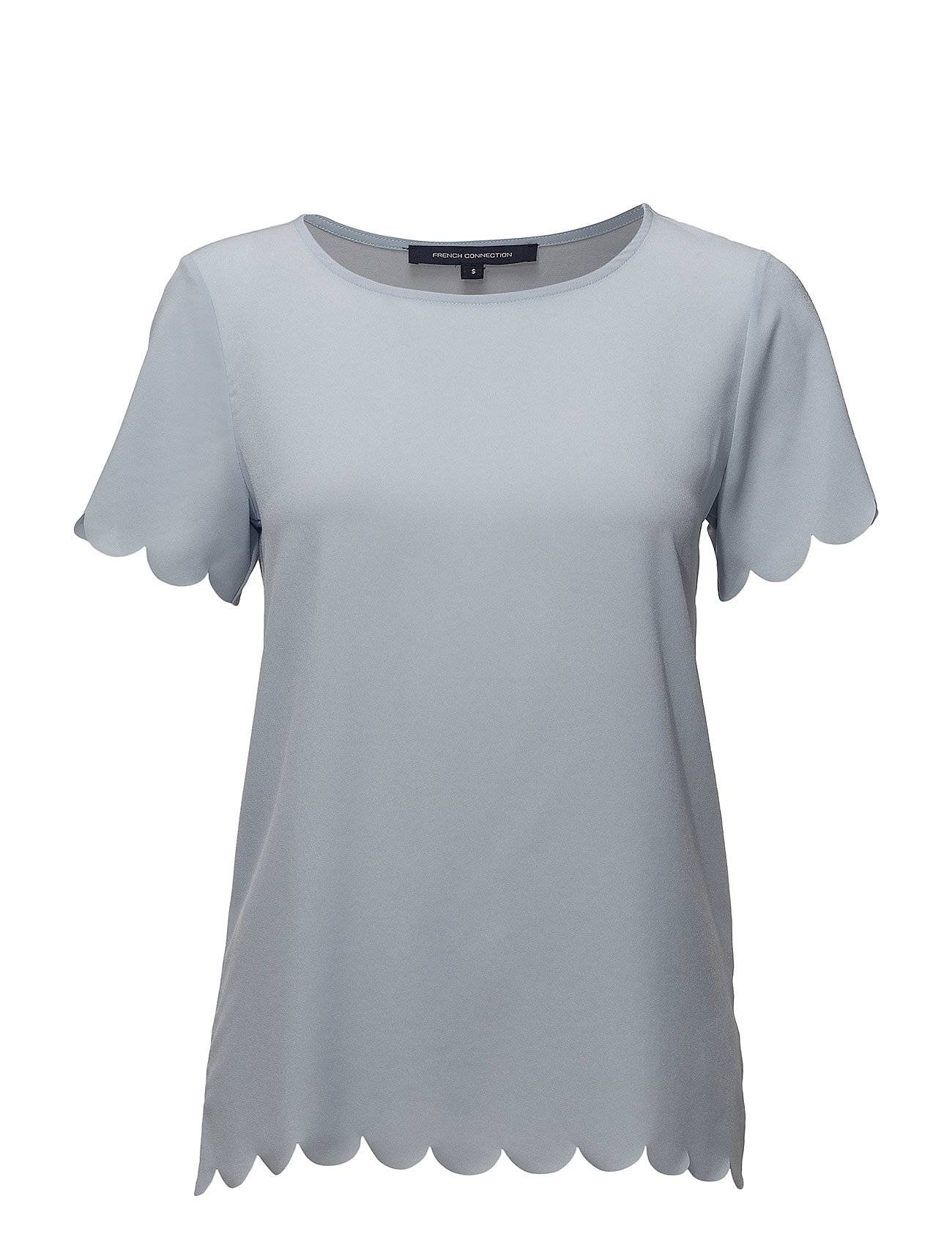 French Connection Classic Crepe Lght Scallop Tee