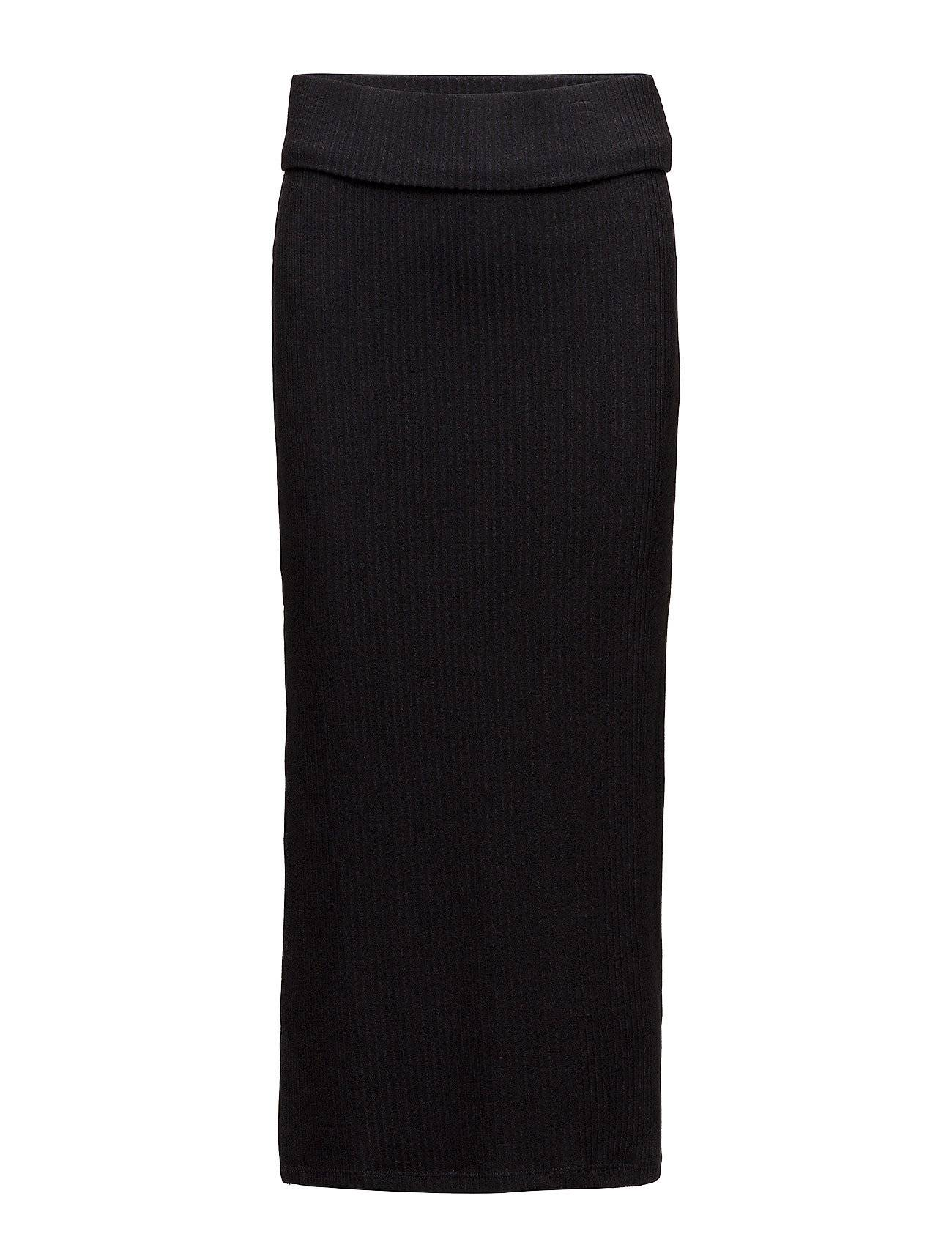 French Connection Petra Rib Jersey Split Skirt