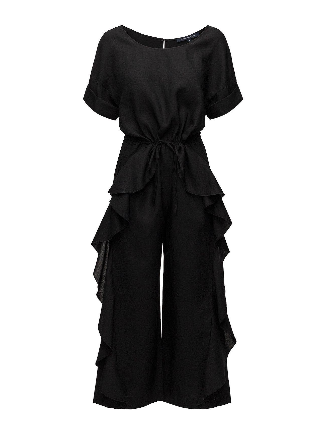 French Connection Dae Drape Frill Jumpsuit