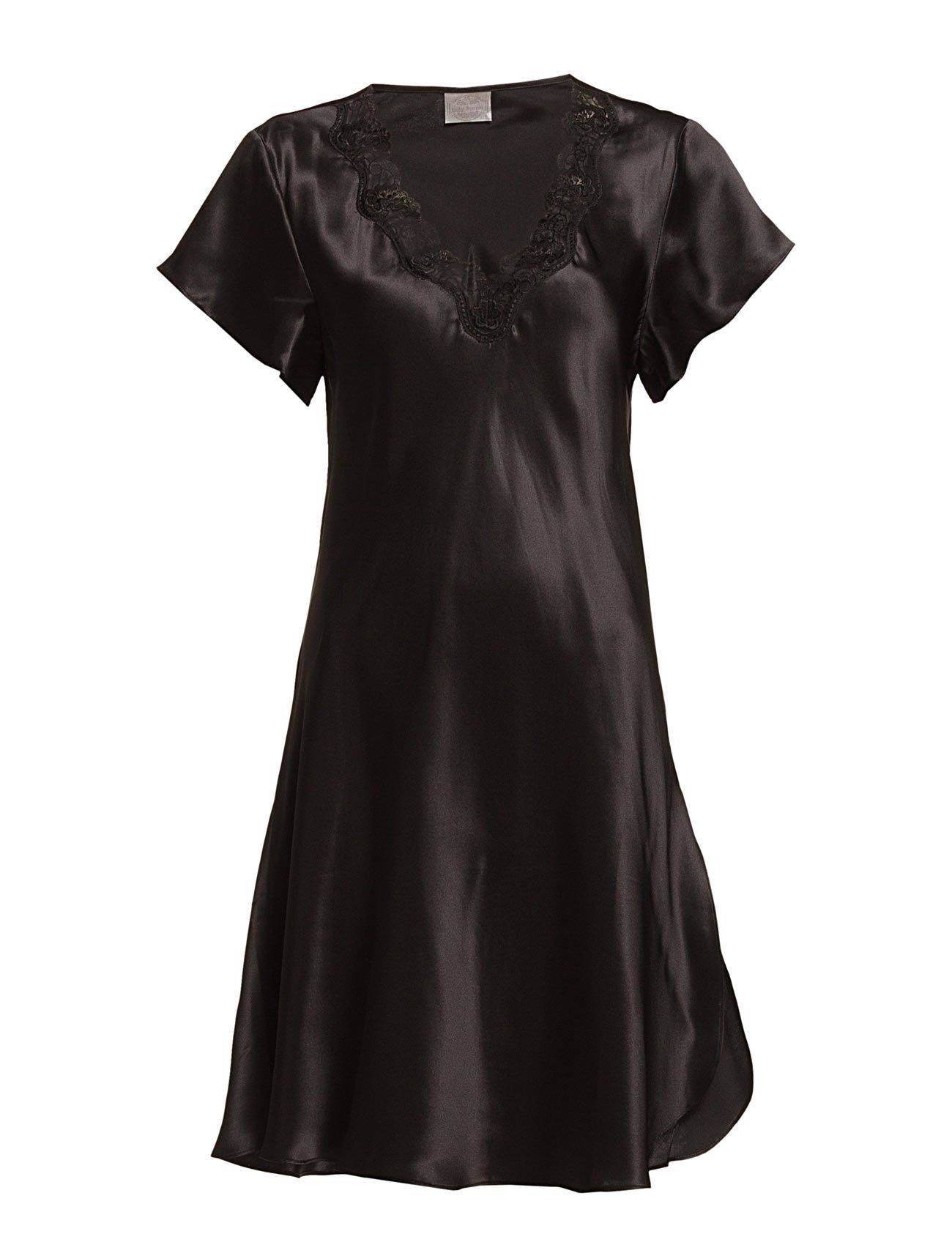 Lady Avenue Pure Silk - Nightgown W.Lace, Short