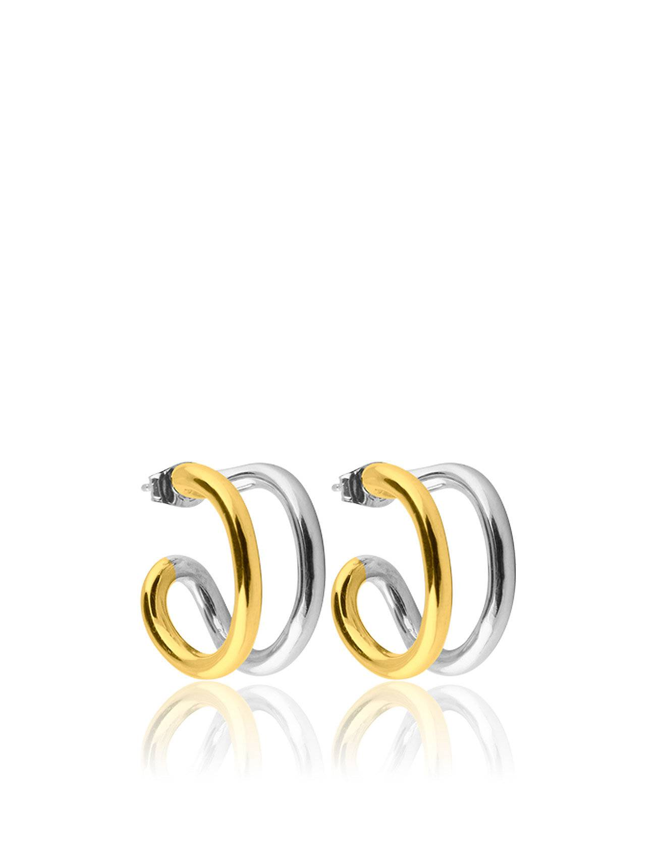 SOPHIE by SOPHIE Two Tone Hoops S