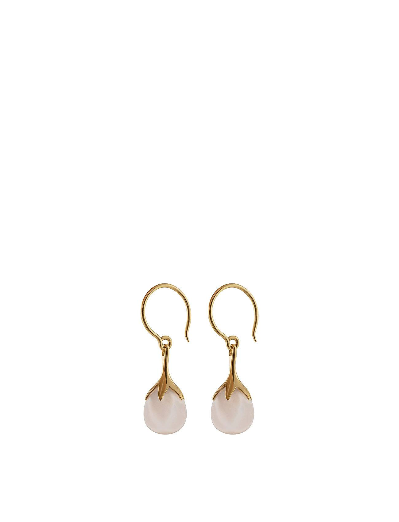 Syster P Dripping Earrings Gold Rose Quartz