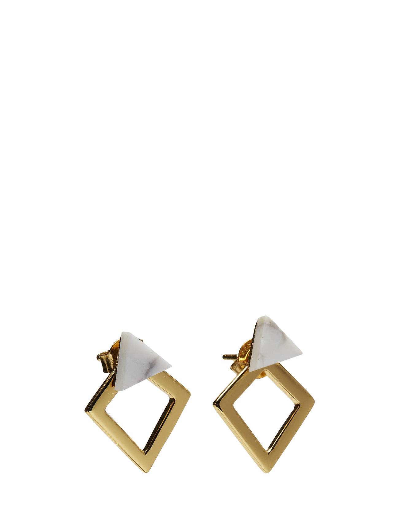 Syster P Angled Earrings Howlite