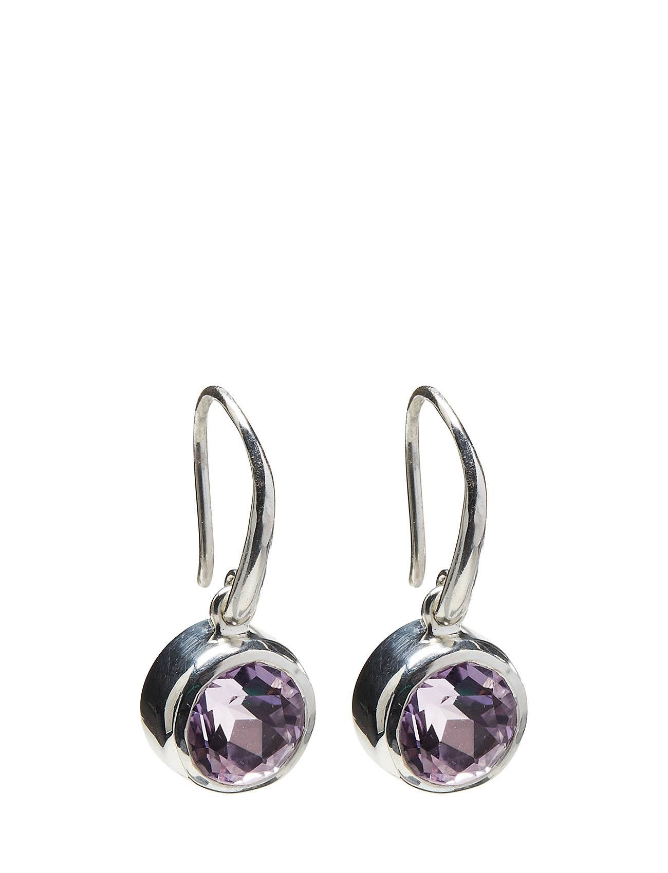 Syster P Lone Star Earrrings Pink Amethyst, Silver
