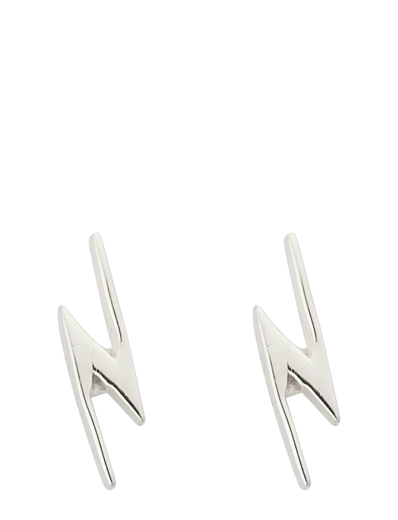 Syster P Snap Earrings Flash Silver