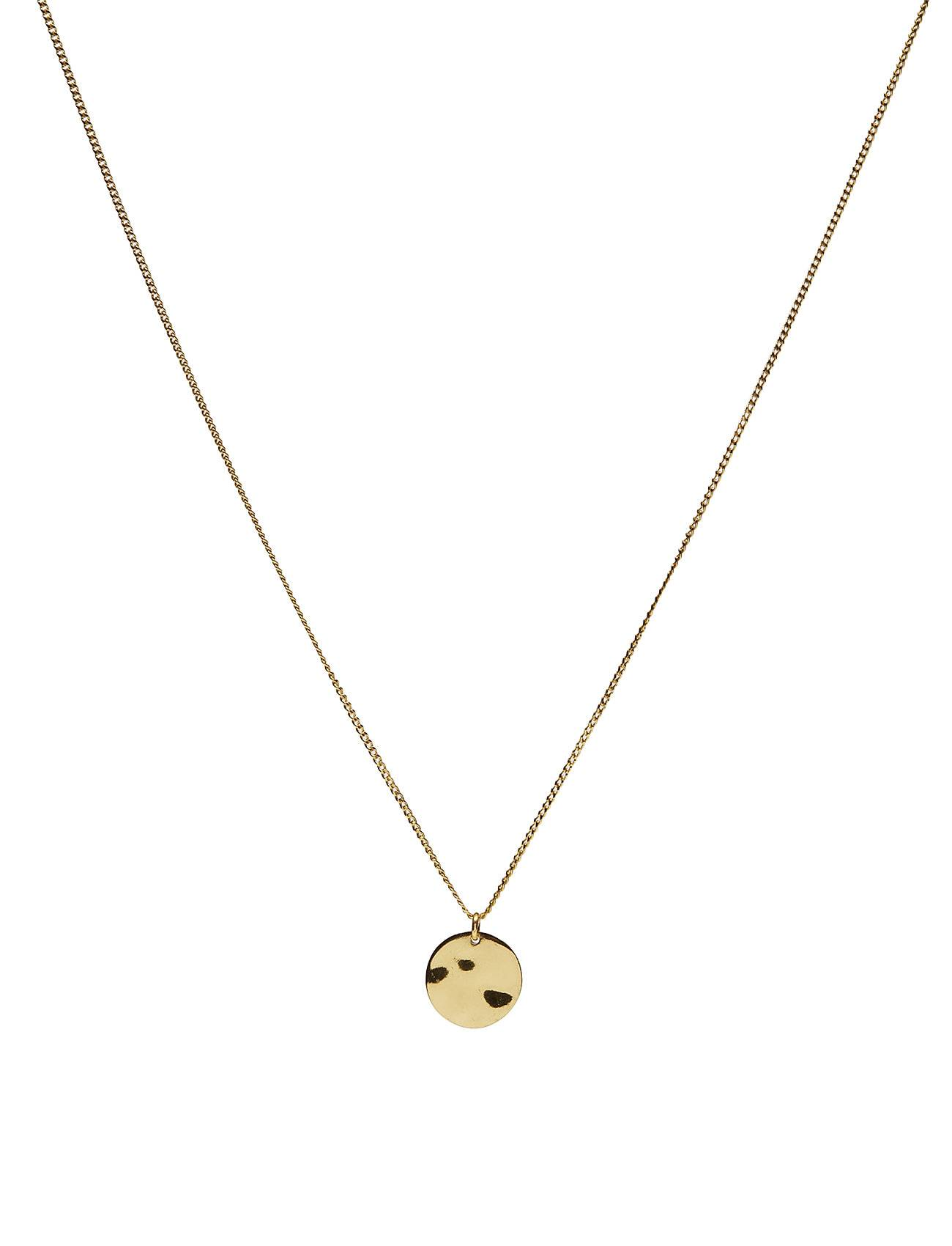 Syster P Minimalistica Hammered Circle Necklace Gold