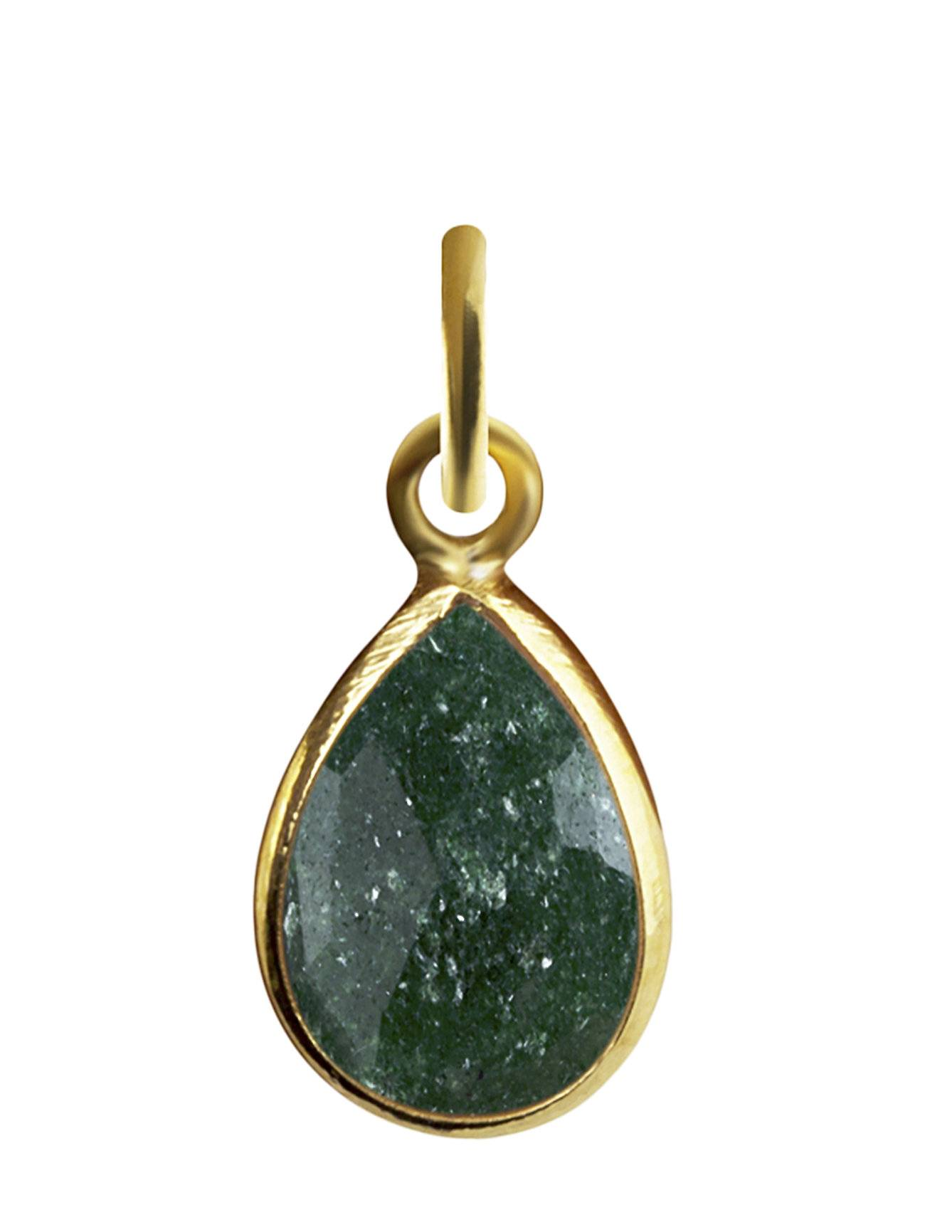Syster P Beloved Stone Pendant Gold Green Aventurine