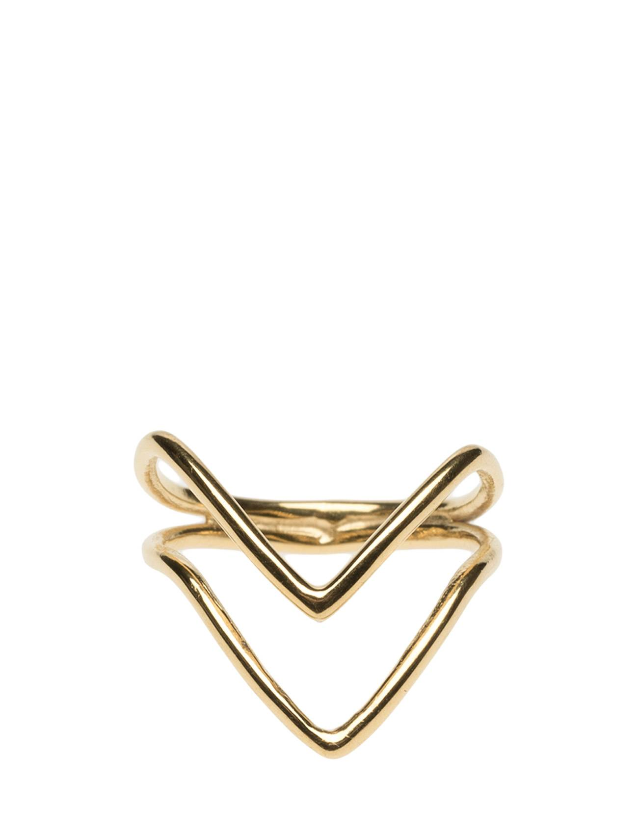 Syster P Tiny Arrow Fingertip Ring Gold