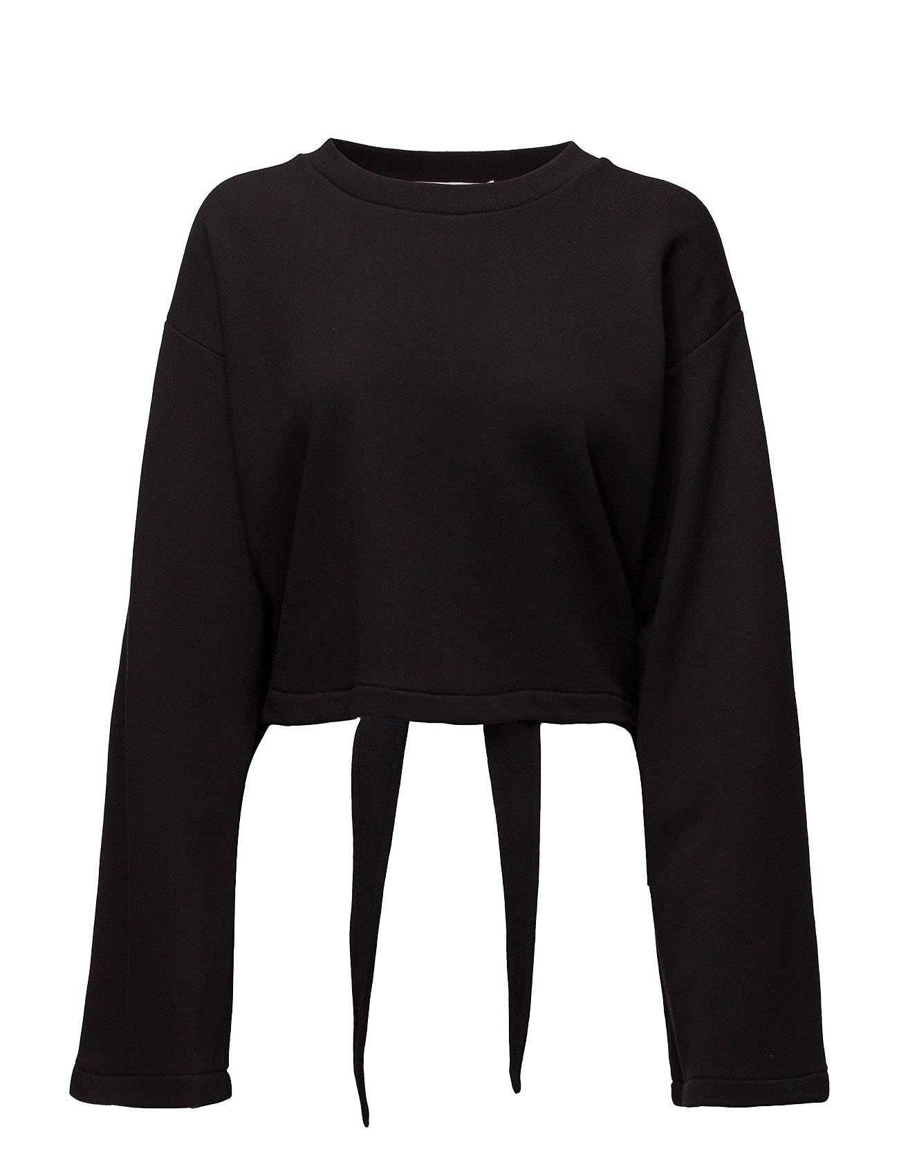 T by Alexander Wang Tie-Back L/S Crop Sweatshirt