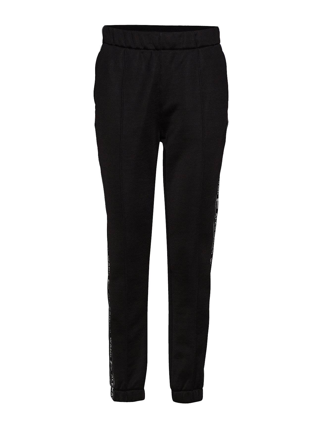 T by Alexander Wang Sleek French Terry Pull-On Track Pant W/Logo Tape