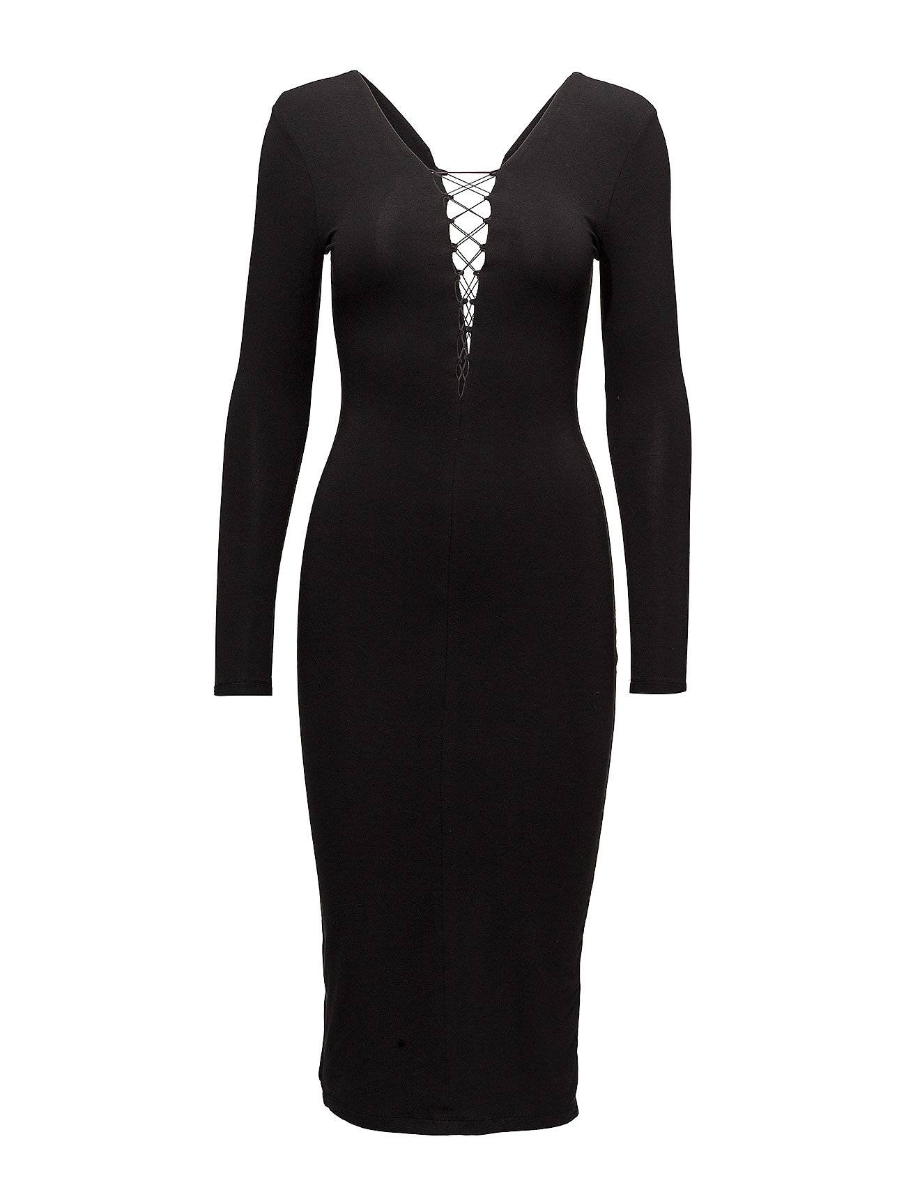 T by Alexander Wang Stretch Jersey Dress Withbungee Lacing