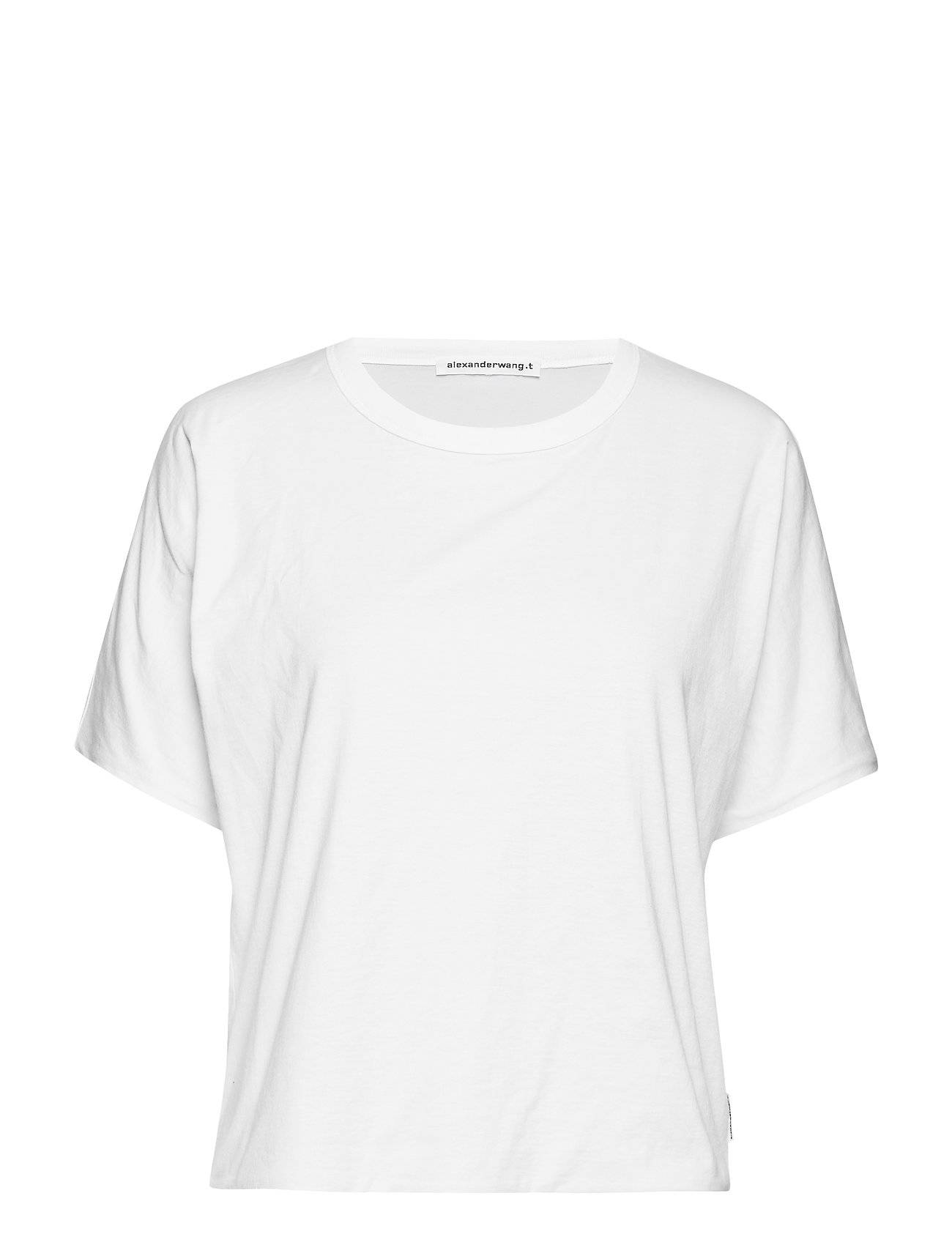 T by Alexander Wang Superfine Jersey S/S Crewneck Top
