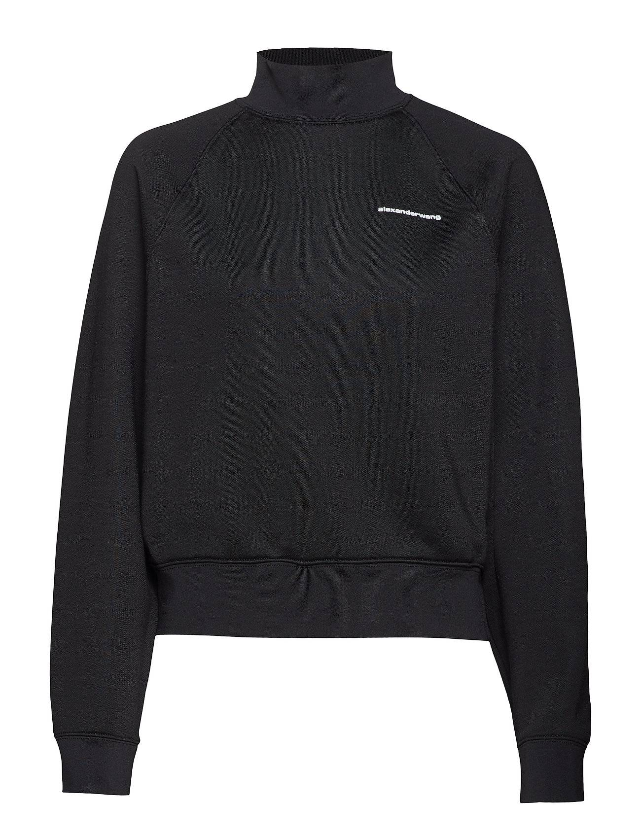 T by Alexander Wang Heavy Sleek French Terry Turtle Neck Sweatshirt
