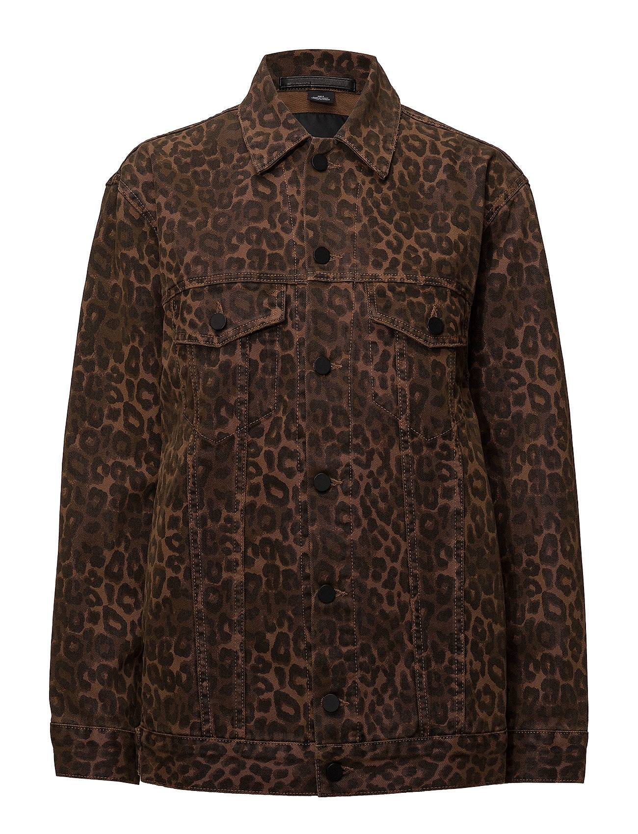 T by Alexander Wang Daze Jacket Tan Leopard Print