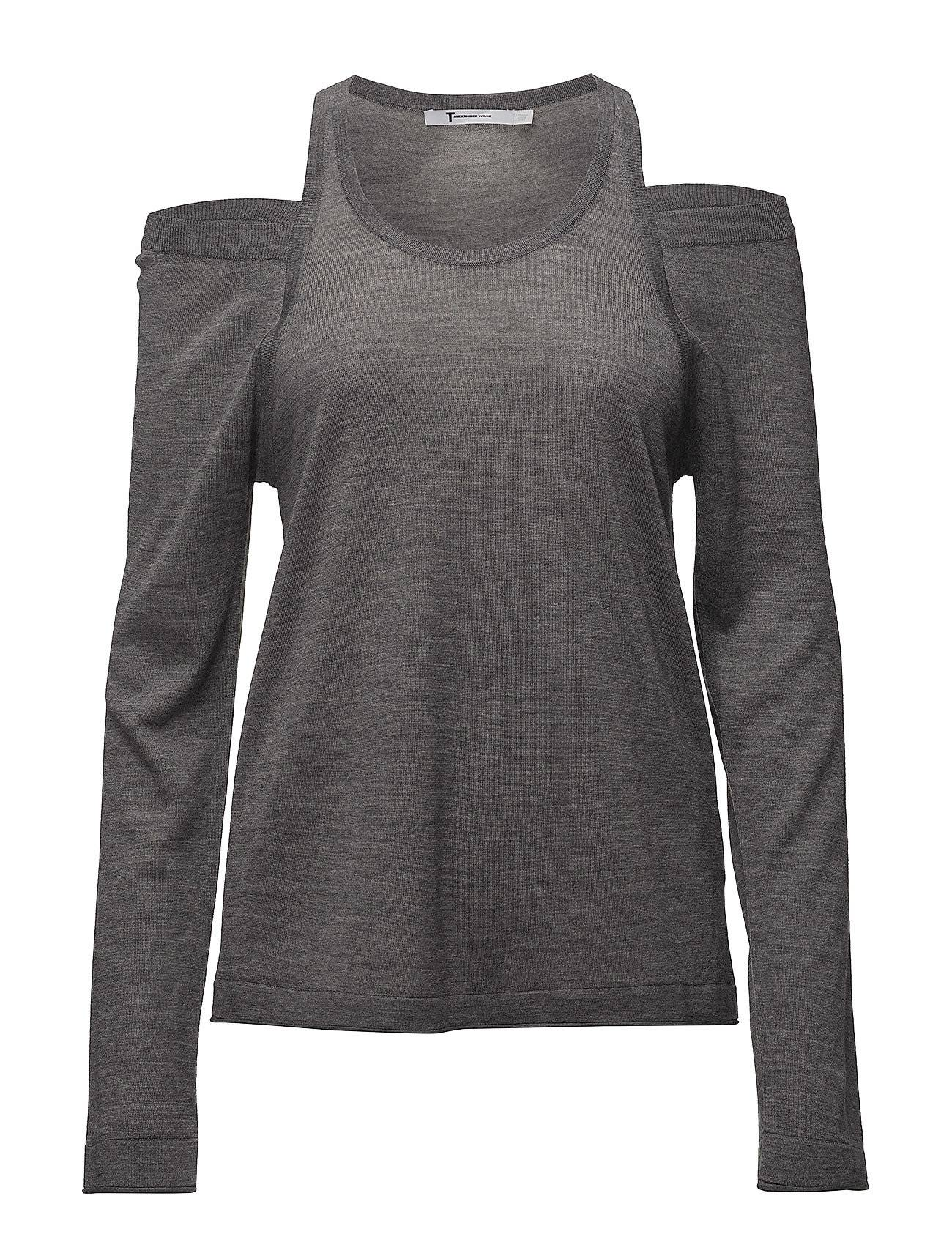 T by Alexander Wang Wash & Go Solid Cutout L/S Sweater
