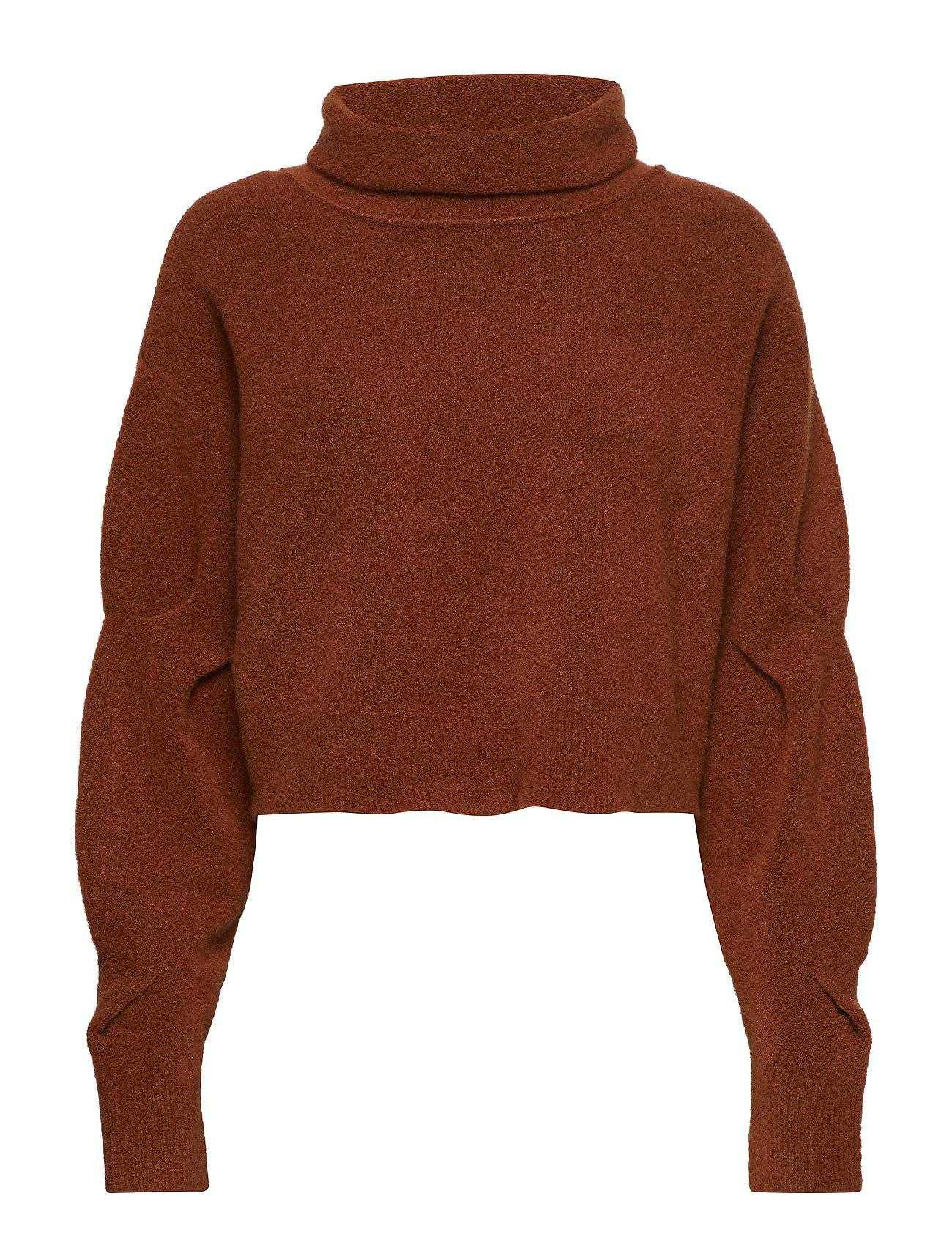 T by Alexander Wang Chunky Wool Cropped L/S Sweater