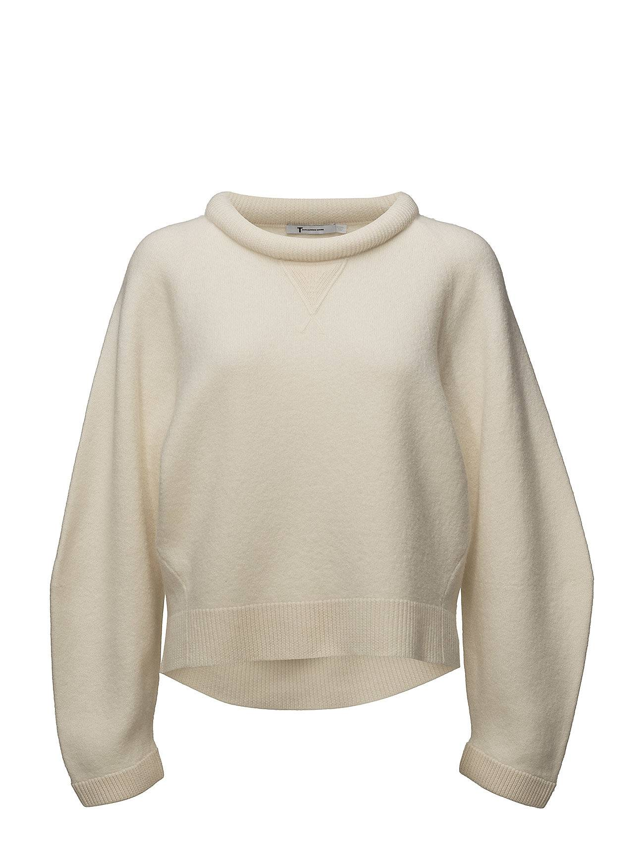 T by Alexander Wang Boiled Wool Crewneck L/Ssweater