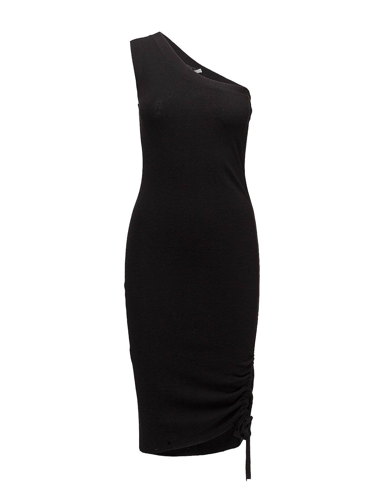 T by Alexander Wang Rusched Merino One-Shoulder Dress