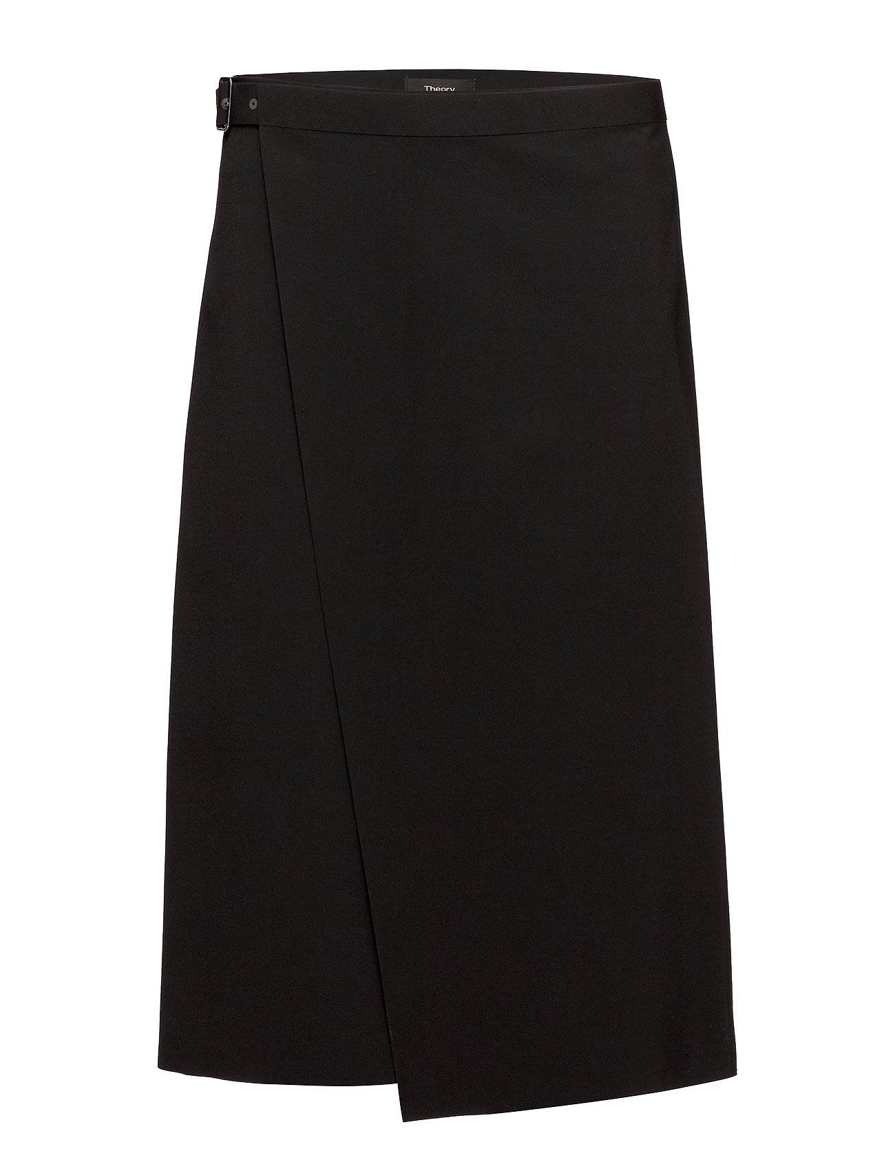 Theory Buckle Wrap Skirt F.