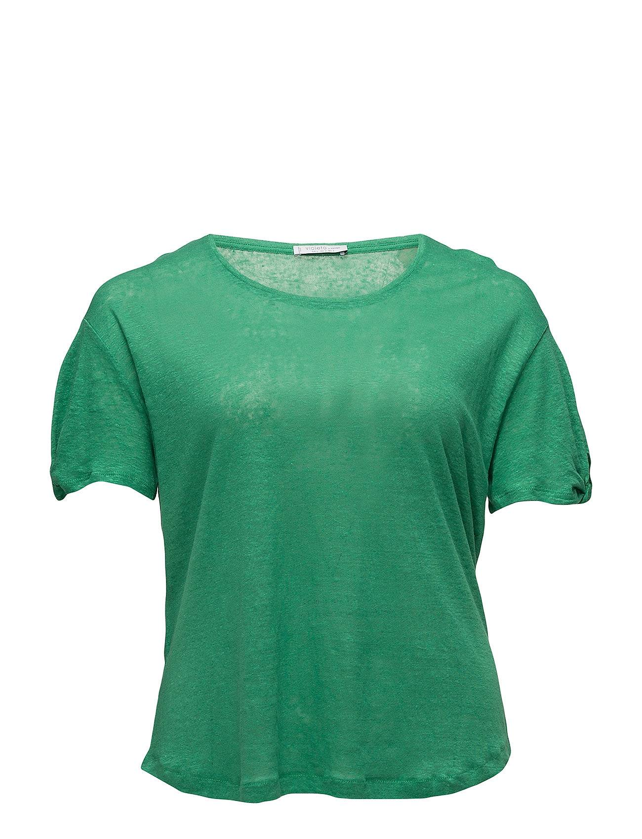Violeta by Mango Knotted Linen T-Shirt
