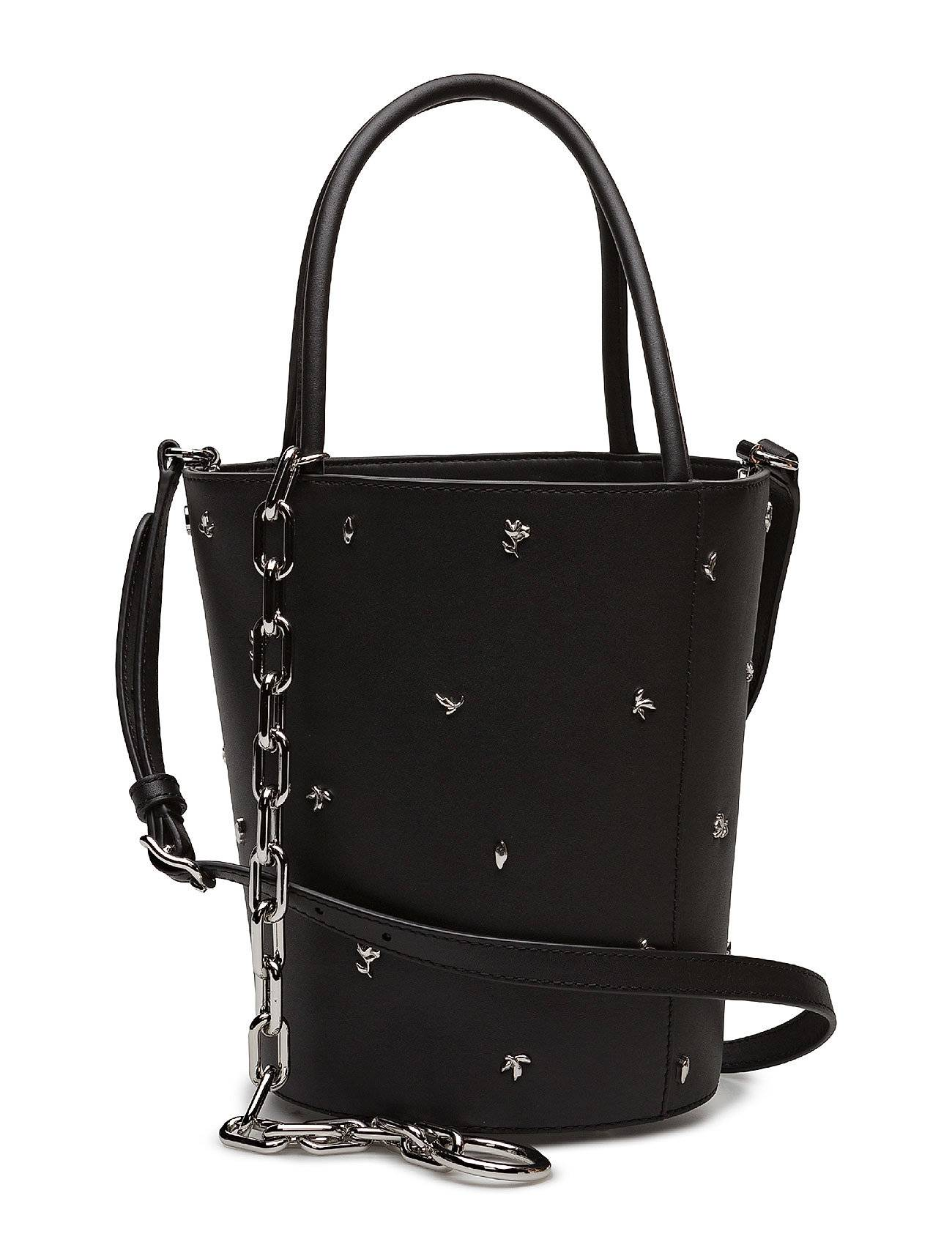 Alexander Wang Roxy Bucket Blk Smooth Shiny Calfw/Rose Studs/Ir
