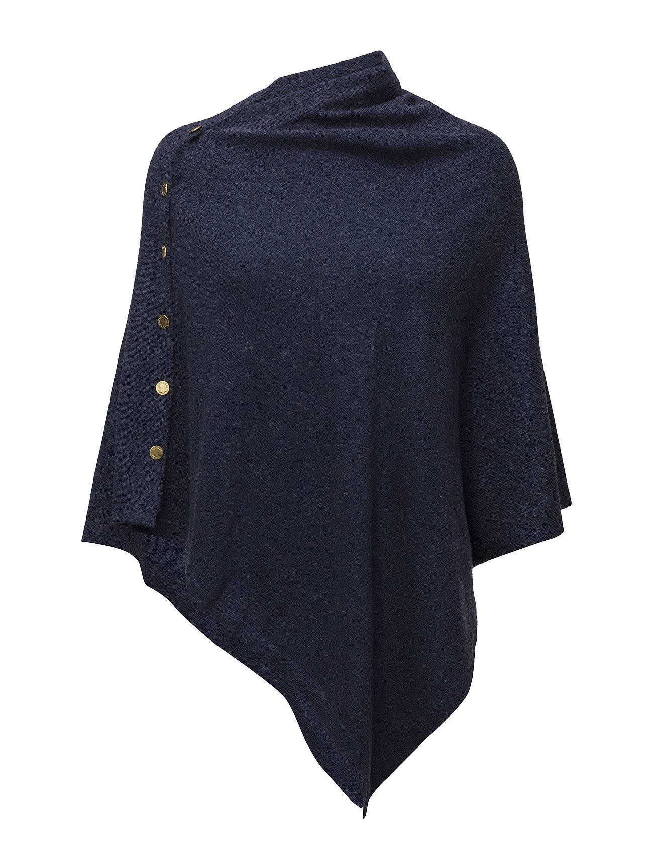 Davida Cashmere Poncho With Gold Buttons