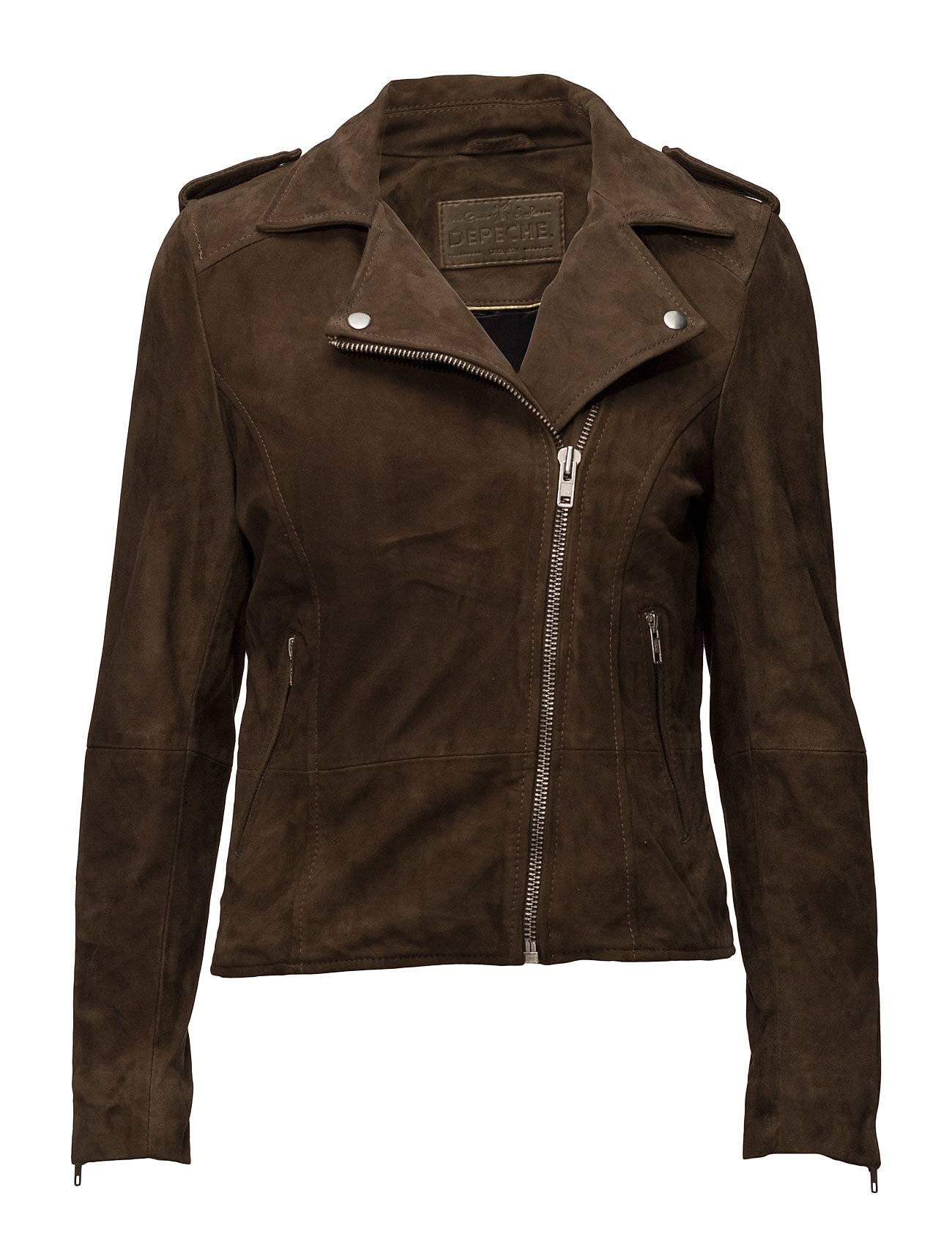 DEPECHE Biker Jacket In Suede