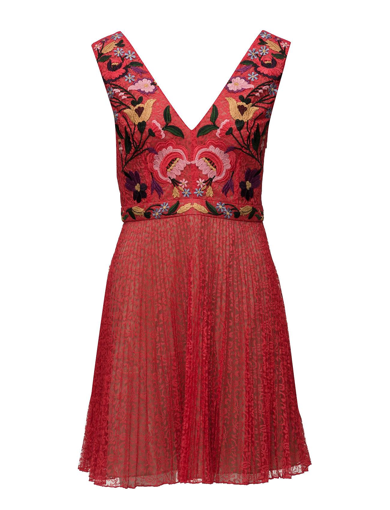 French Connection Alice Lace S/Less V Nk Dress