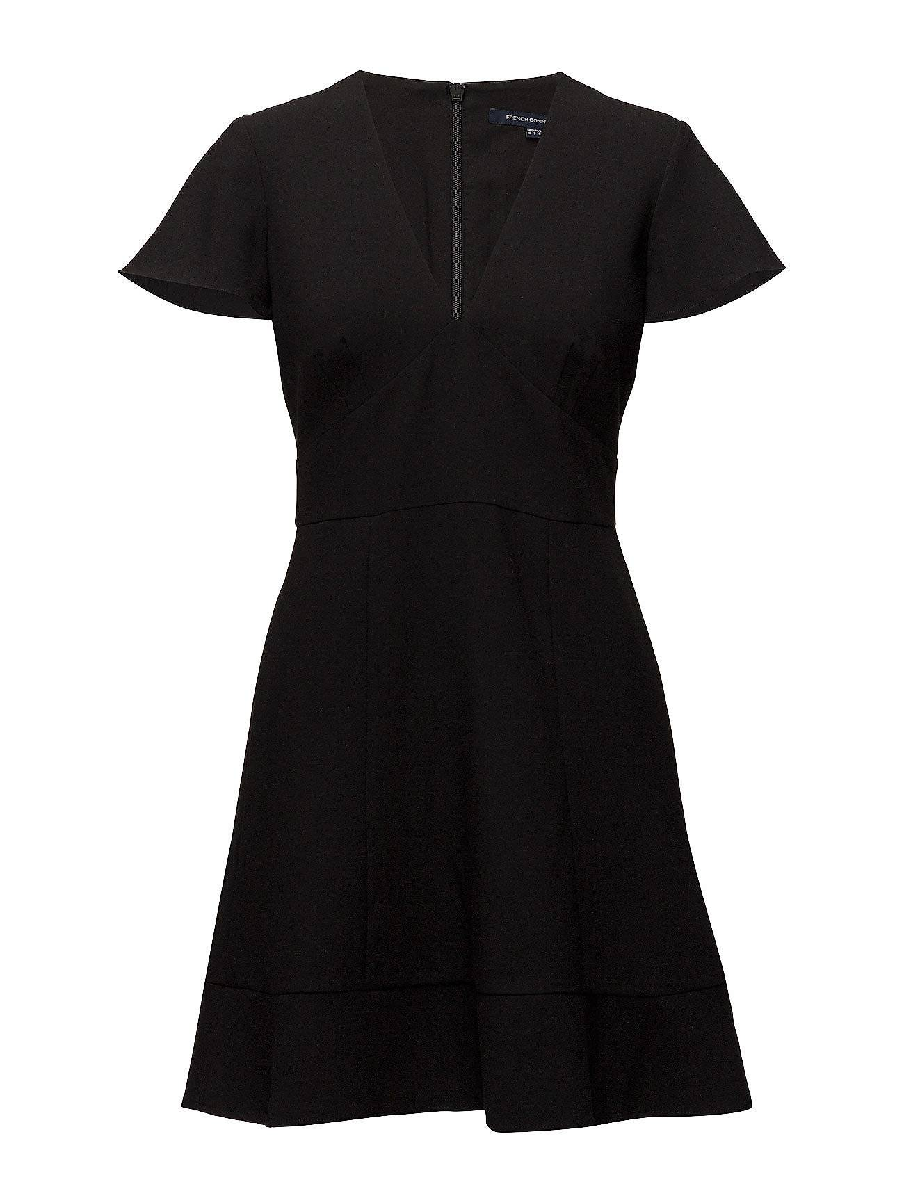 French Connection Whisper Ruth Short Sleeve V-Neck Flared Dress