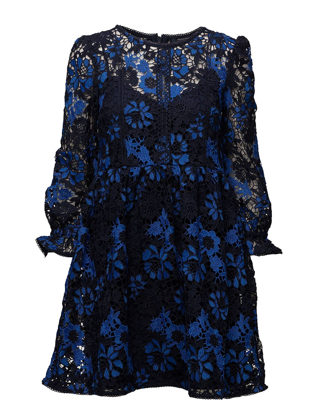French Connection Musea Lace Mix Long Sleeve Flared Dress