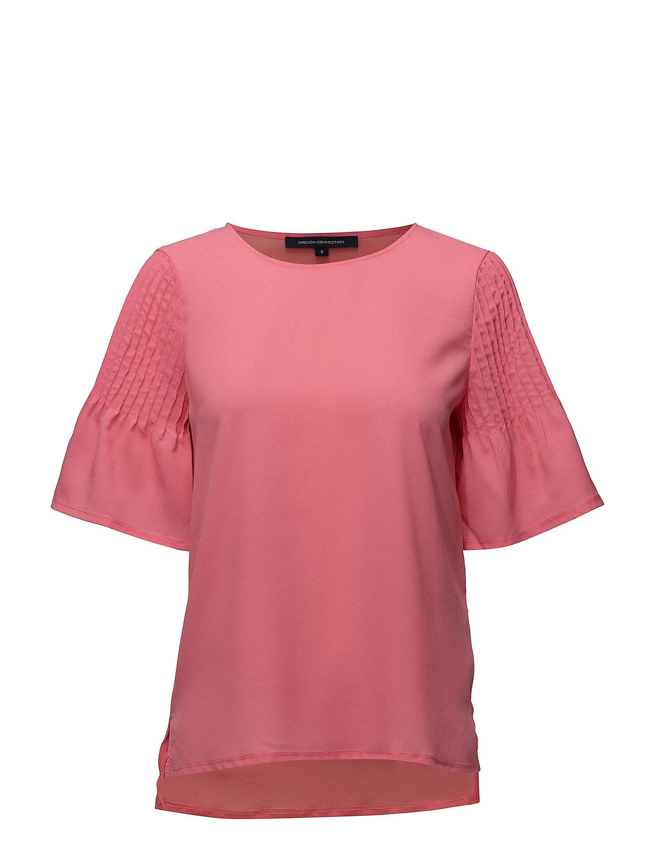 French Connection Classic Crepe Light Fluted Sleve Top