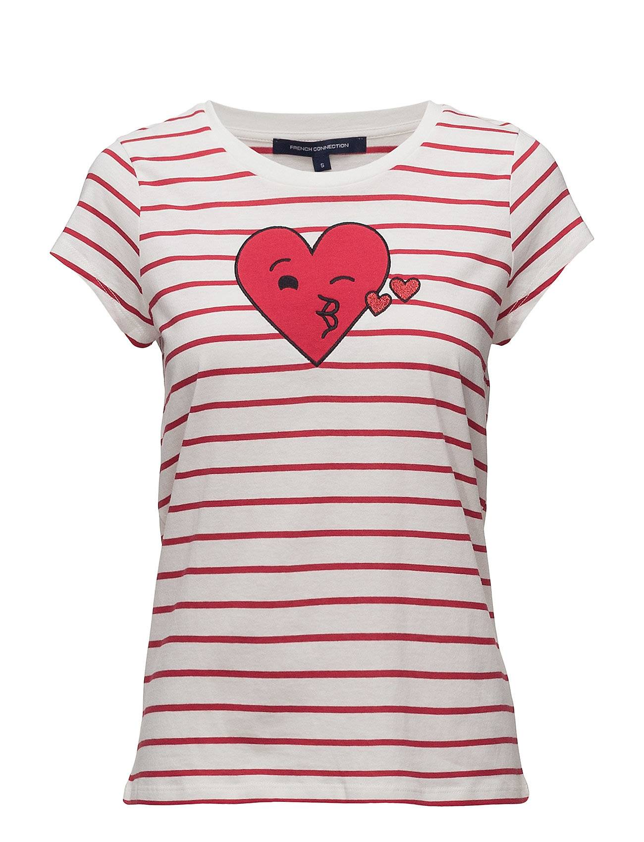 French Connection Heart Crew Neck Tshirt