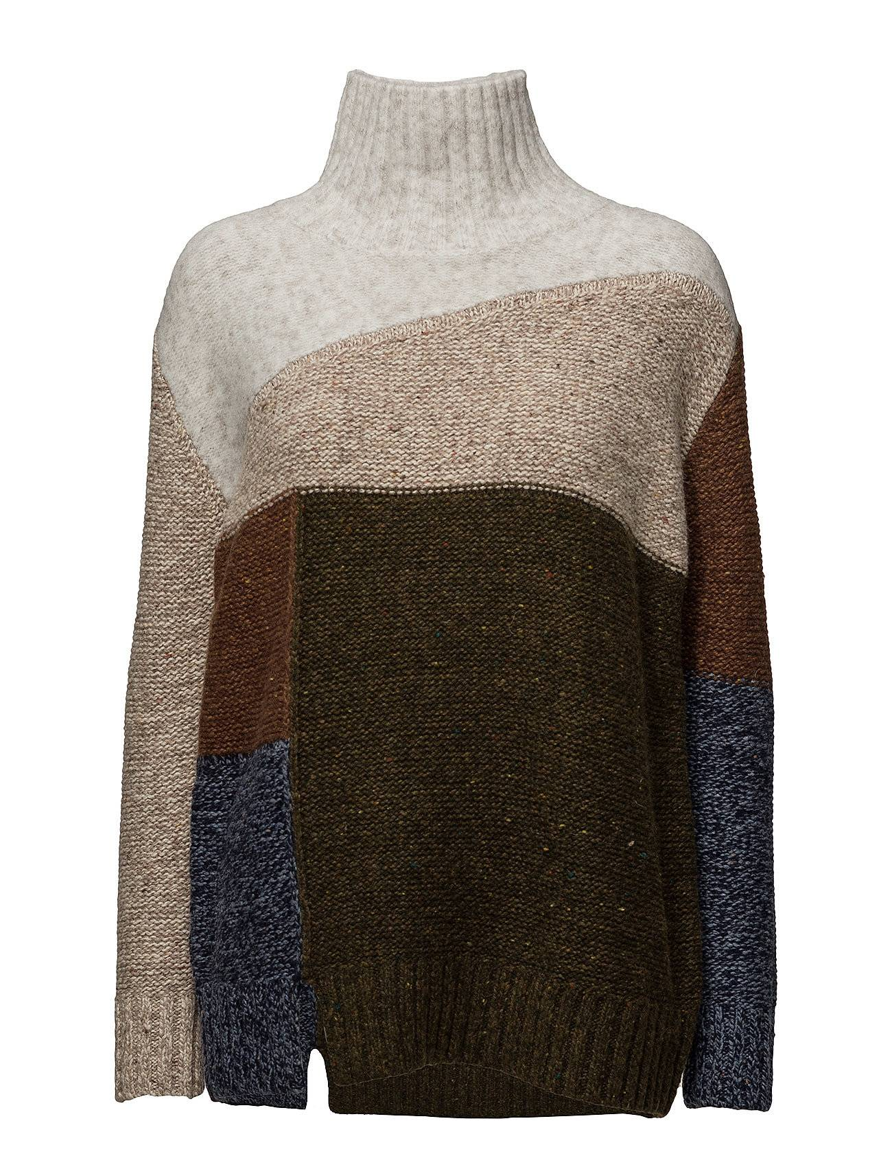 French Connection Anna Patchwork Knitted Jumper