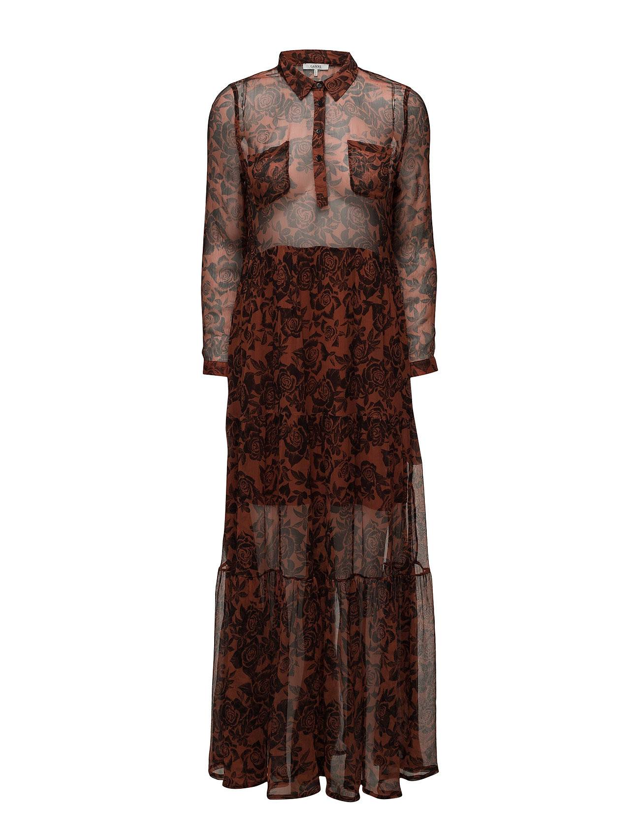 Ganni Beaumont Chiffon Maxi Dress
