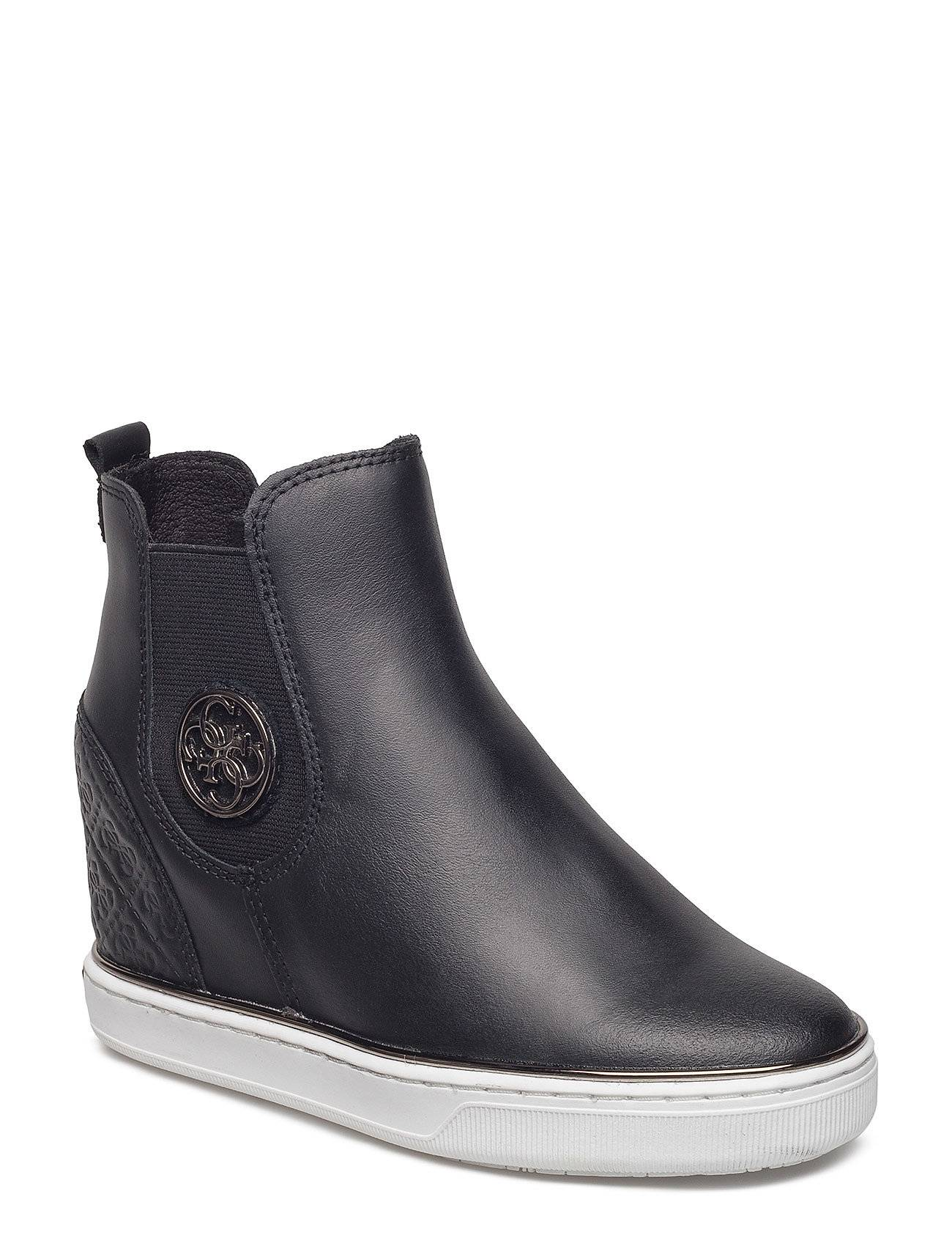 GUESS Freda Leather Wedge Sneaker