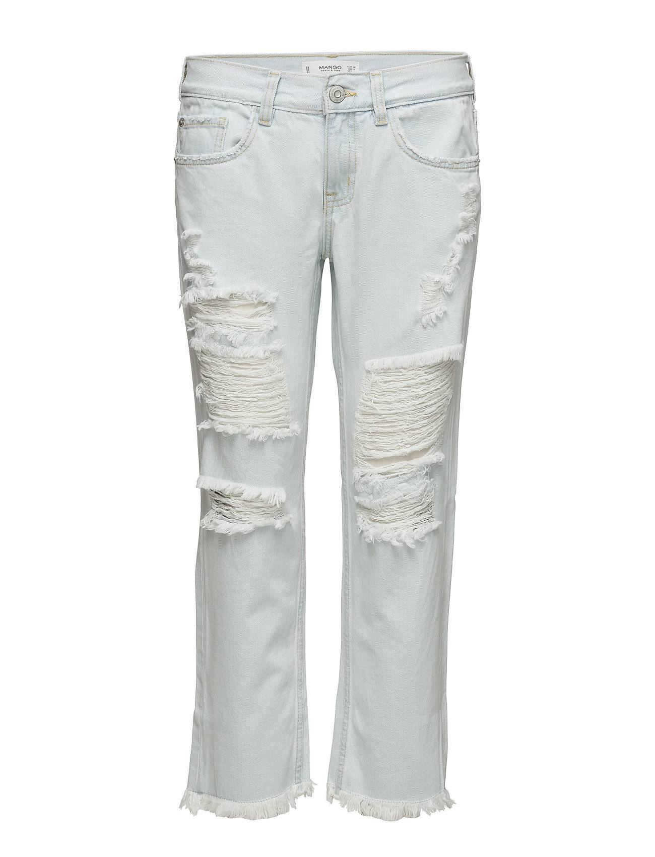 Mango Ripped Relaxed Cigar Jeans