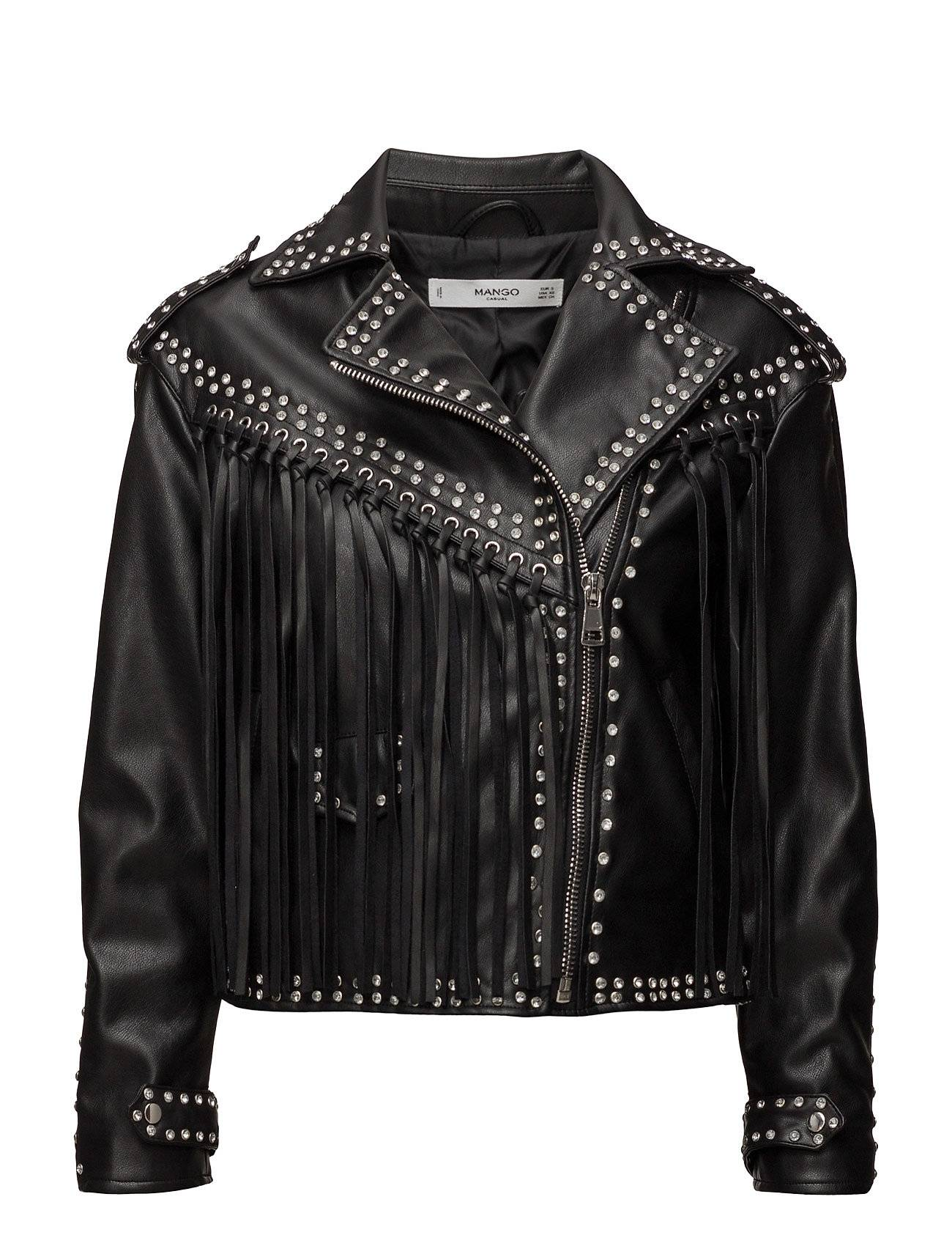Mango Crystal-Detail Biker Jacket