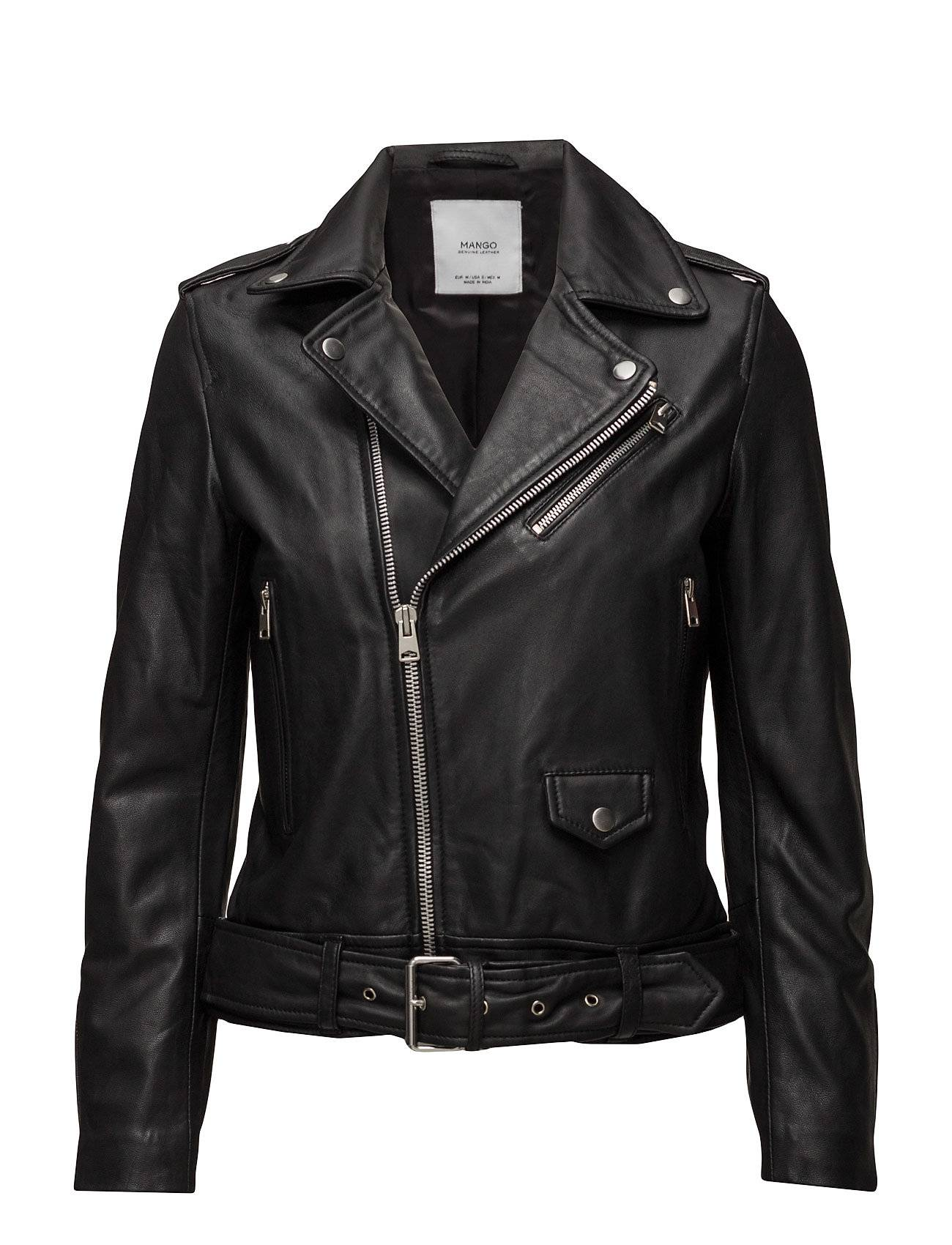 Mango Leather Biker Jacket