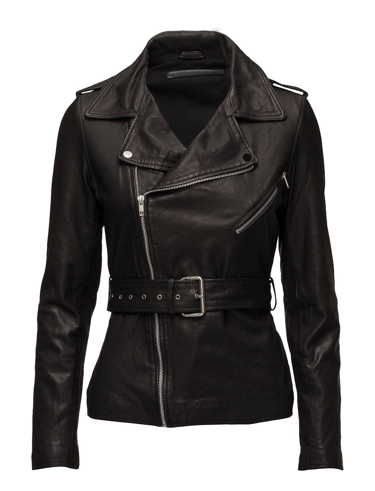 MDK / Munderingskompagniet Haumea Biker Belt Leather Jacket (Black)