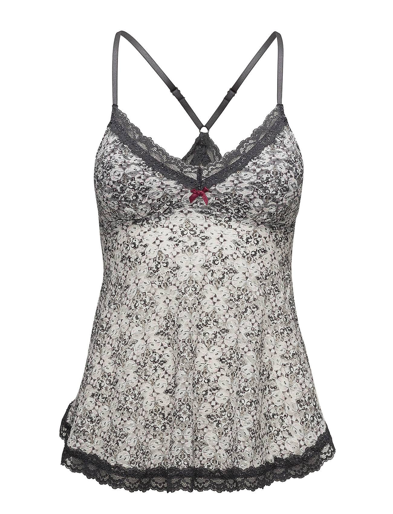 ODD MOLLY UNDERWEAR & SWIMWEAR Printed Lace Oddity Tank Top