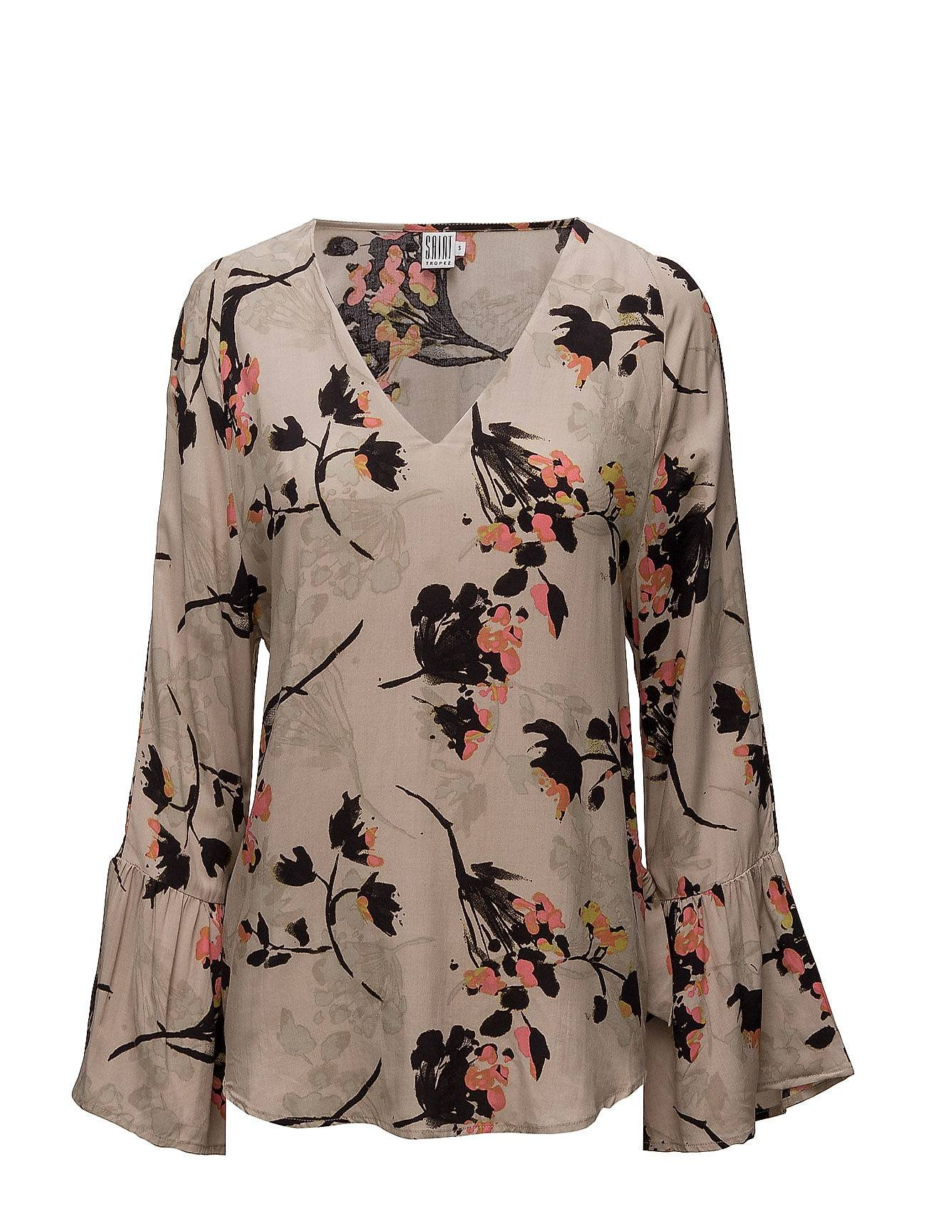 Saint Tropez Blouse With Tie Sleeves