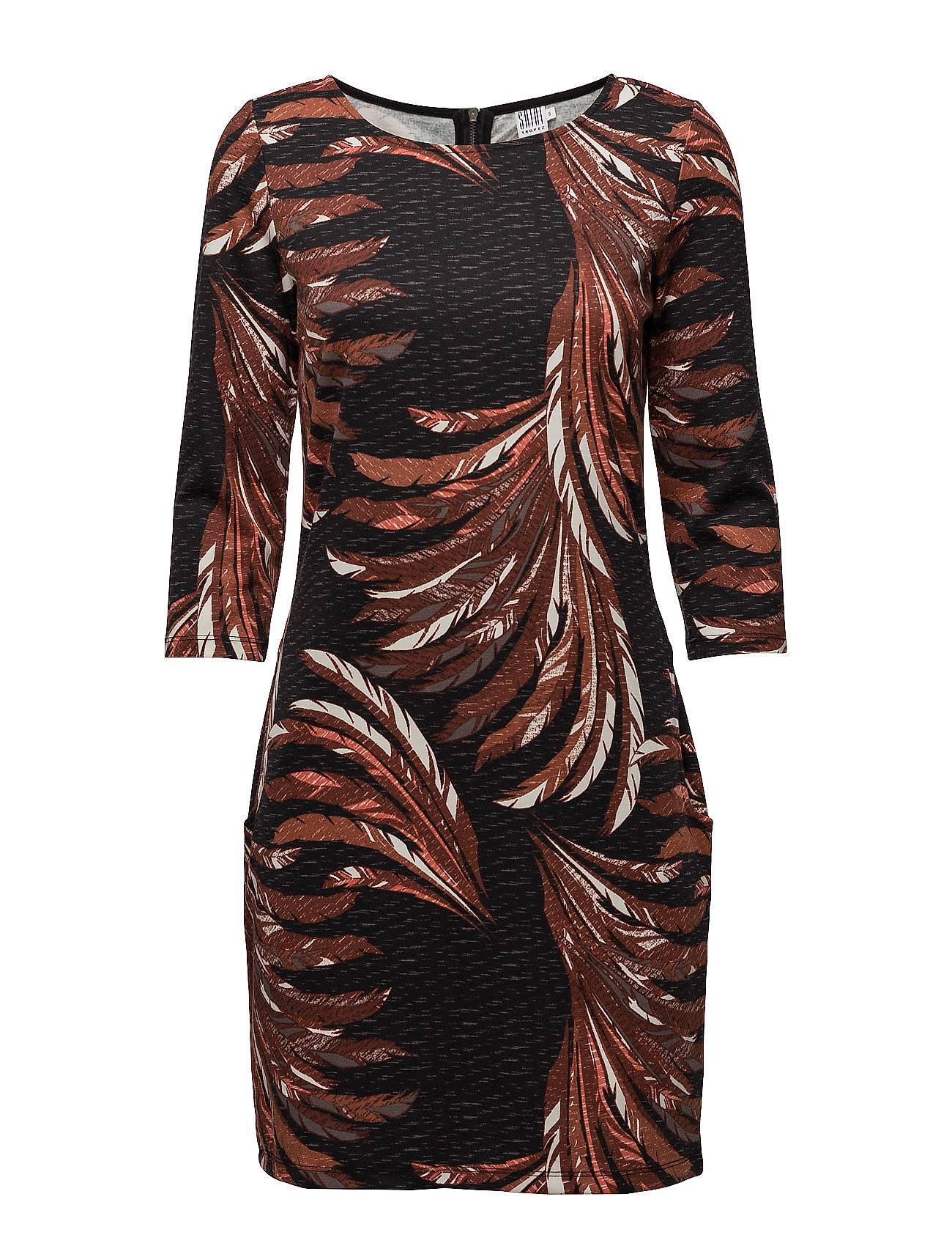 Saint Tropez Feather Printed Jersey Dress