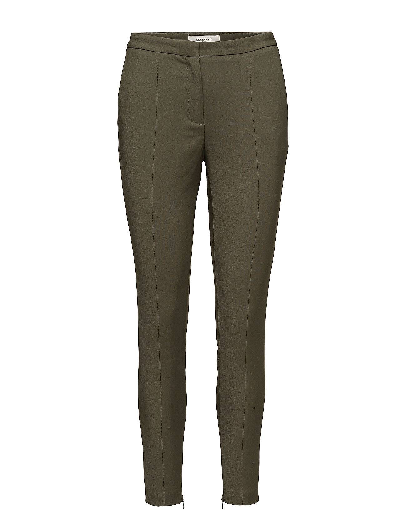Selected Femme Sfmuse Cropped Mw Pant Noos - Grape Leaf