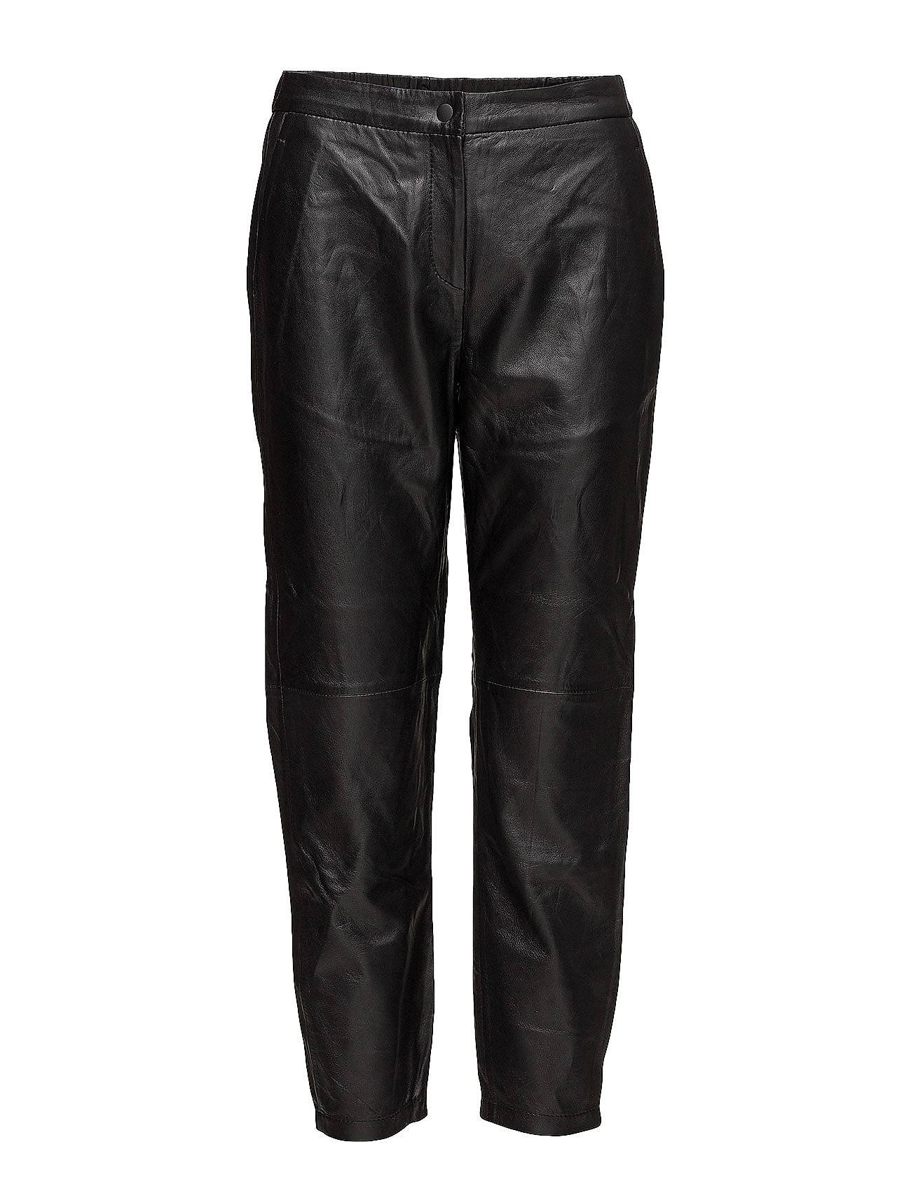 Selected Femme Sfcassie Mw Crop Leather Pant