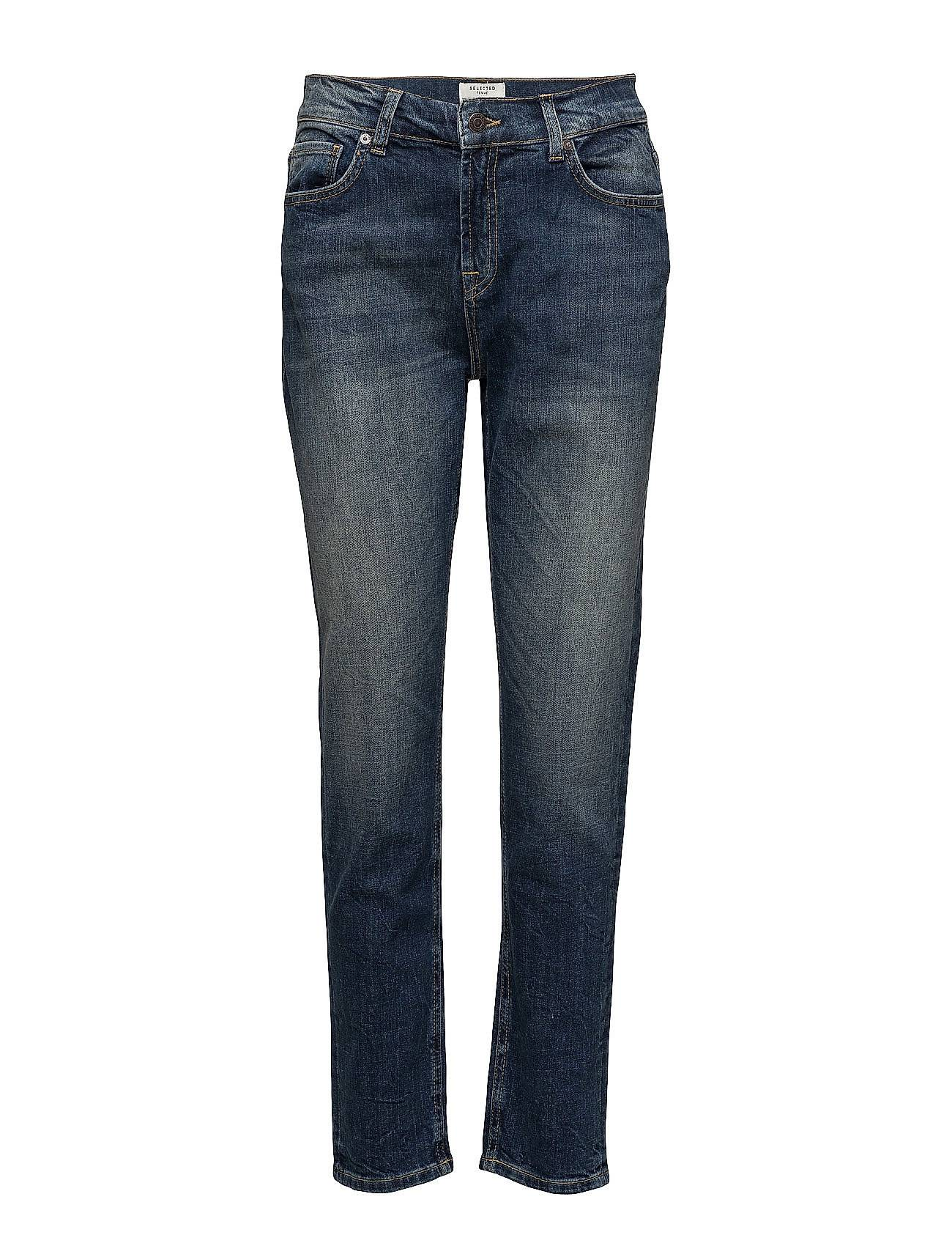 Selected Femme Sfroxy Lr Boyfriend Navy Wash Noos