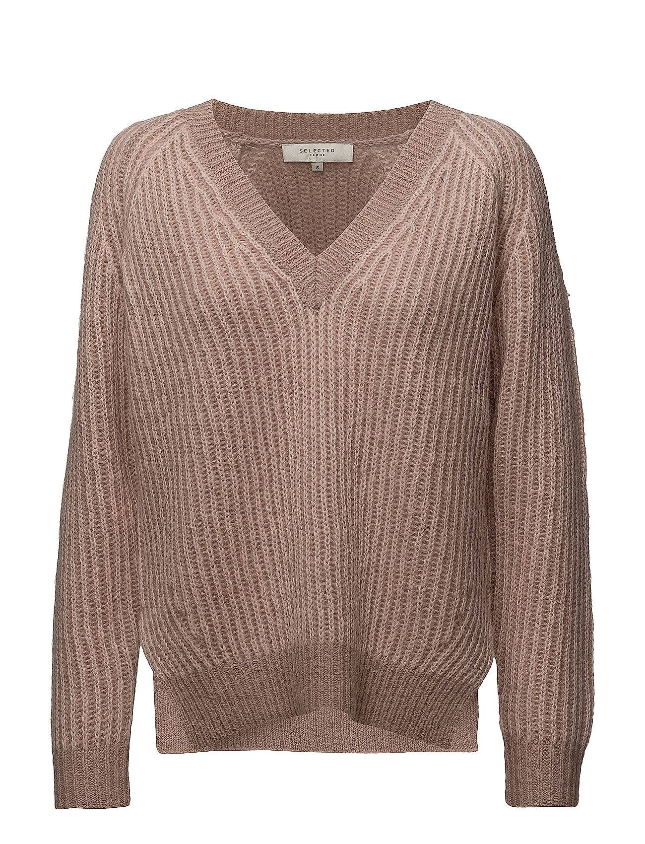 Selected Femme Sfwilla Ls Knit V-Neck