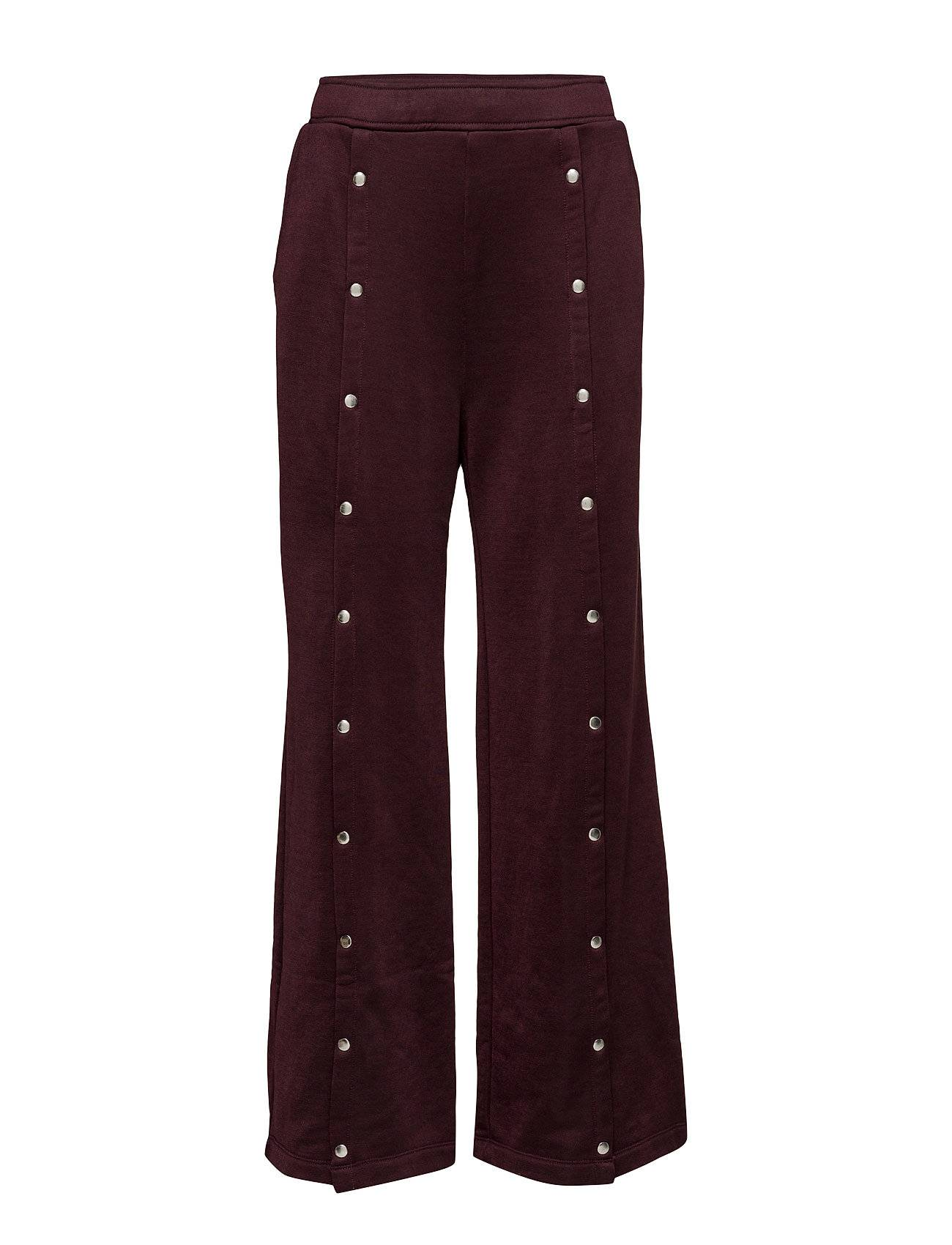 T by Alexander Wang Sleek French Terry Wide Leg Pull On Pant W/ Snaps