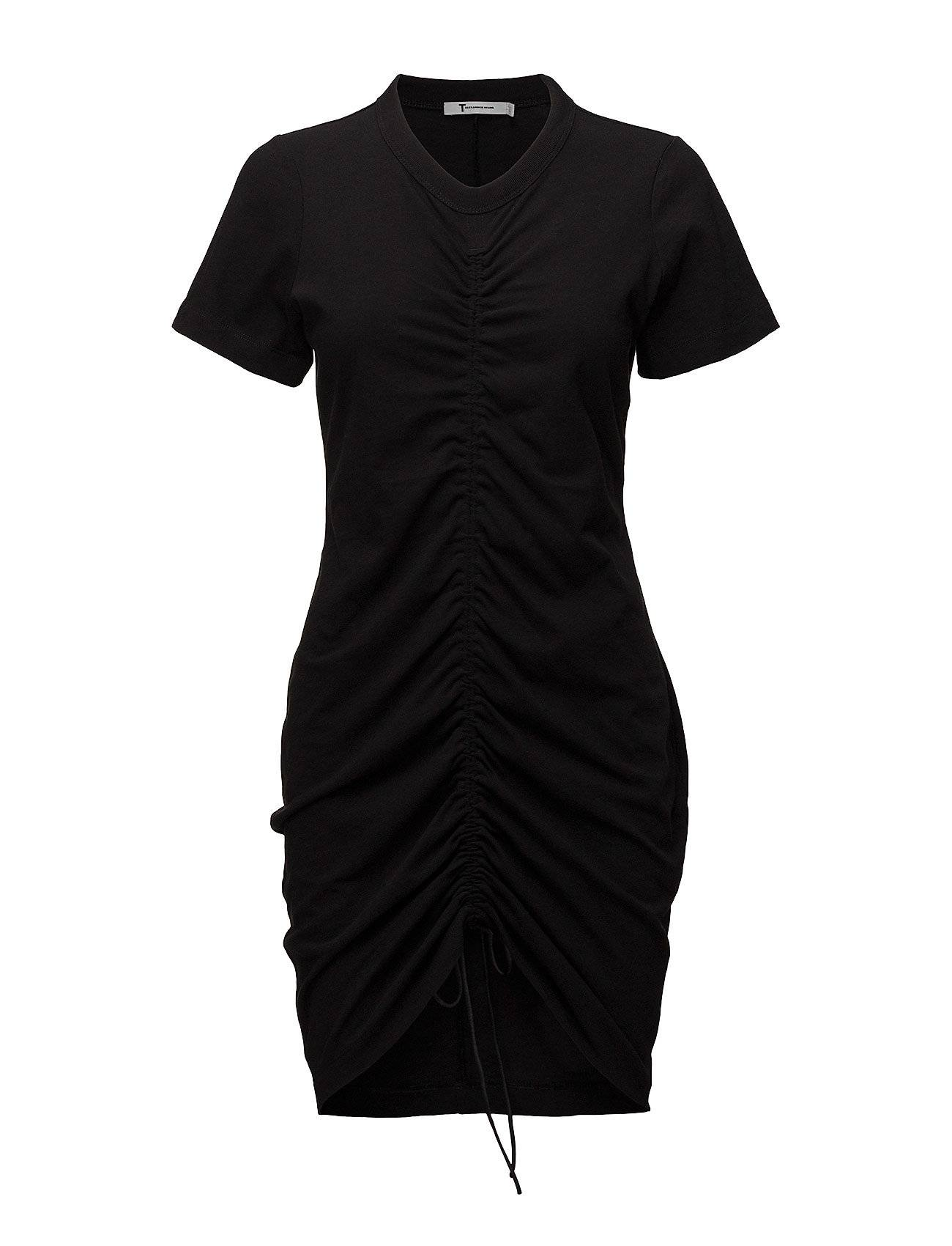 T by Alexander Wang High Twist Dress With Gathered Front