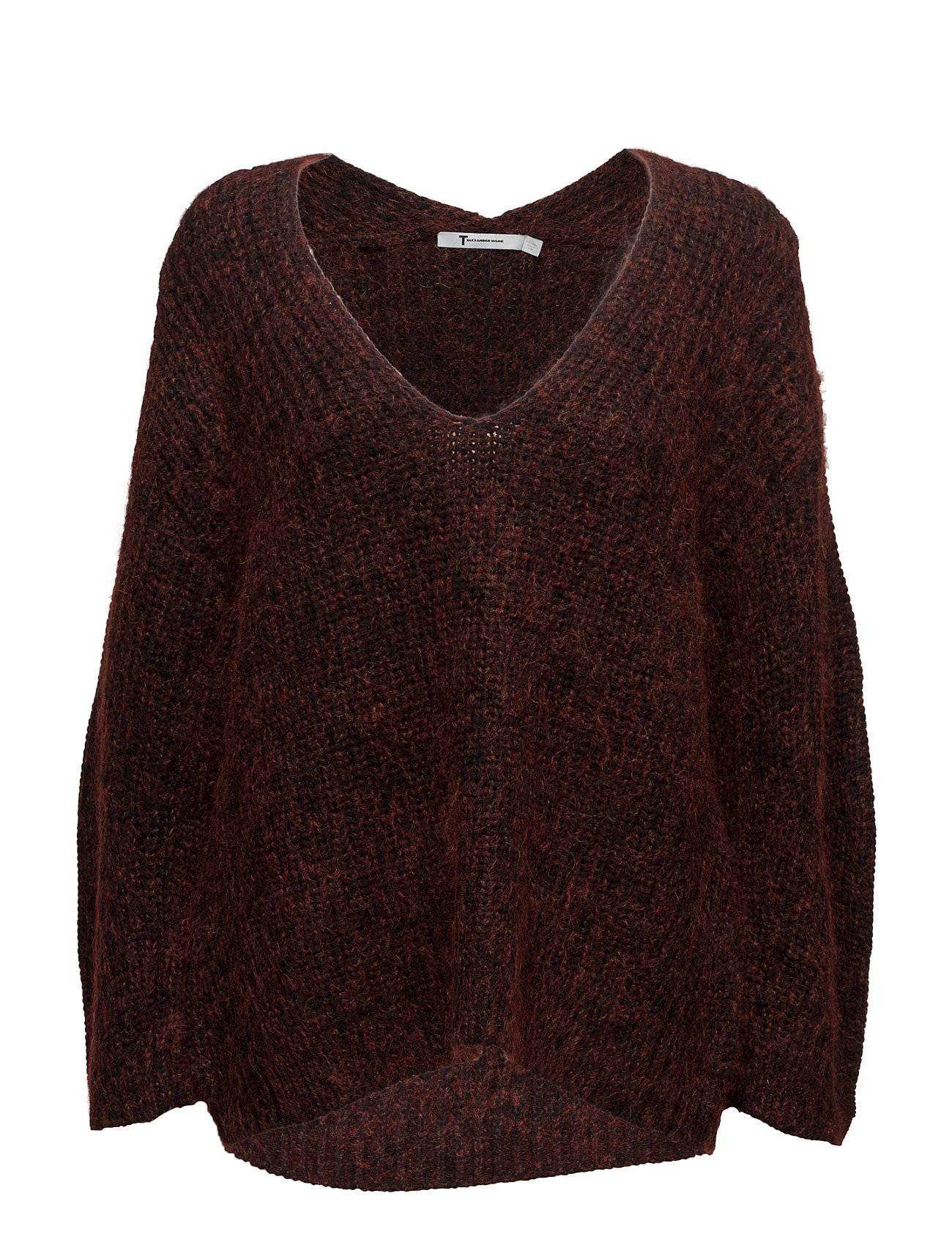 T by Alexander Wang Chunky Mohair Marl Bracelet Sleeve Vnk Sweater